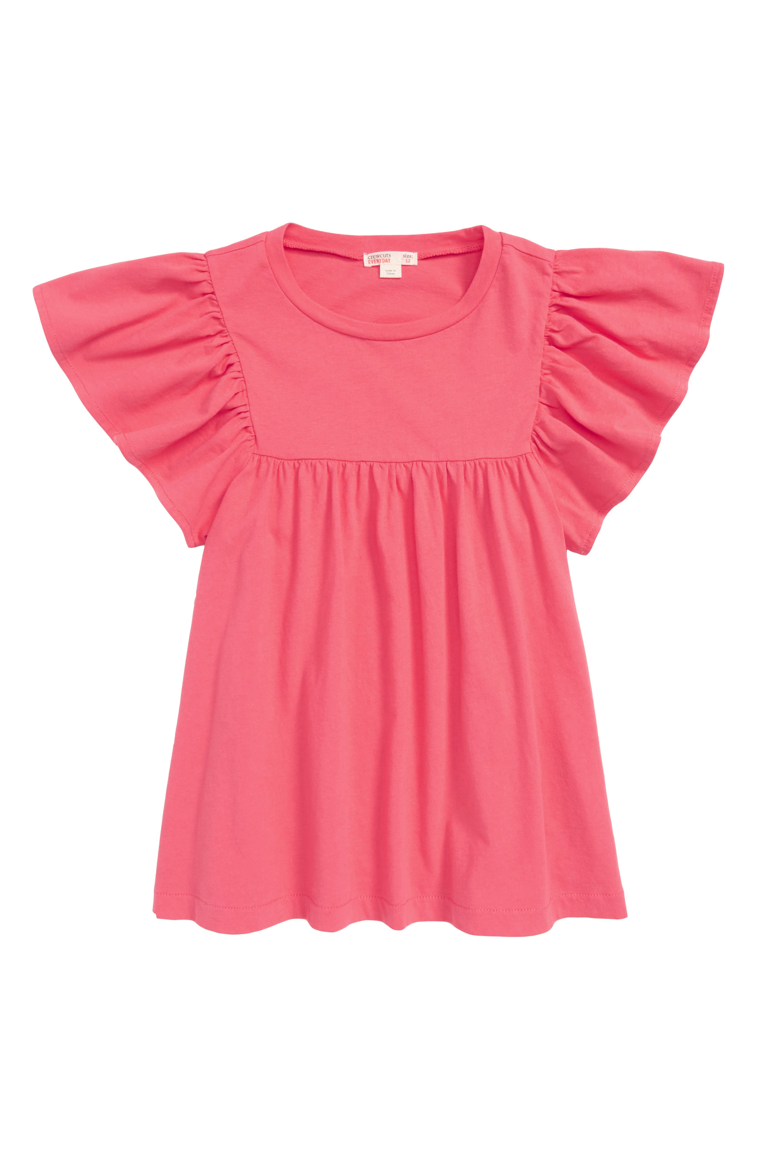 Bell Sleeve Tee,                         Main,                         color, Neon Prim Rose