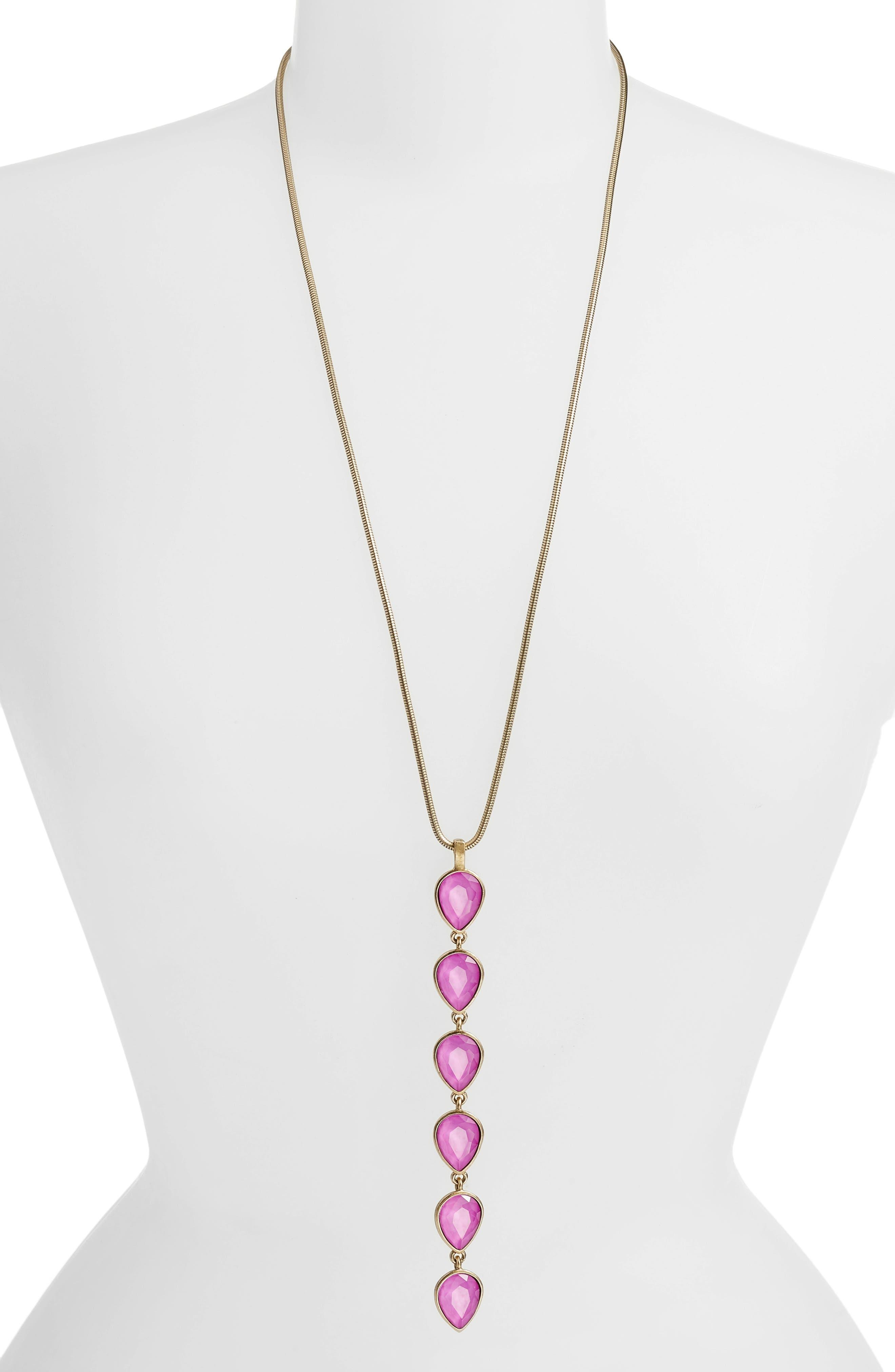 Sydney Y-Necklace,                         Main,                         color, Violet