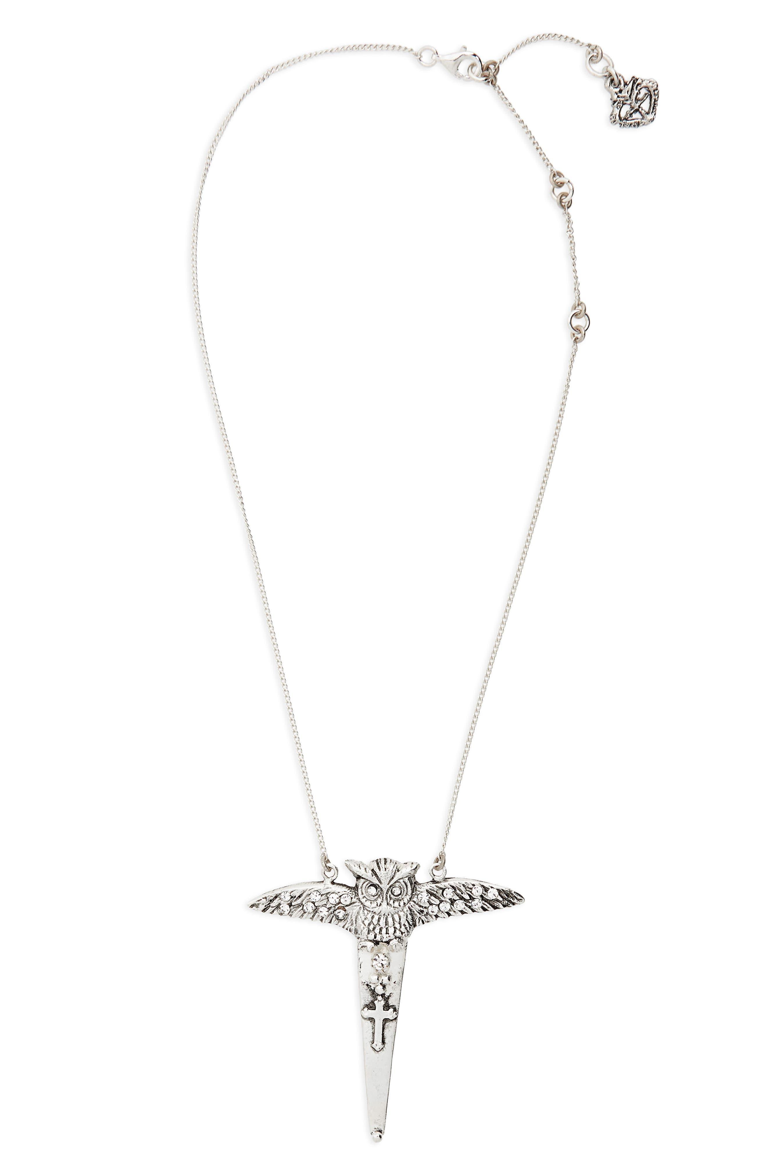 Mystic Amulet Pendant Necklace,                             Main thumbnail 1, color,                             Silver