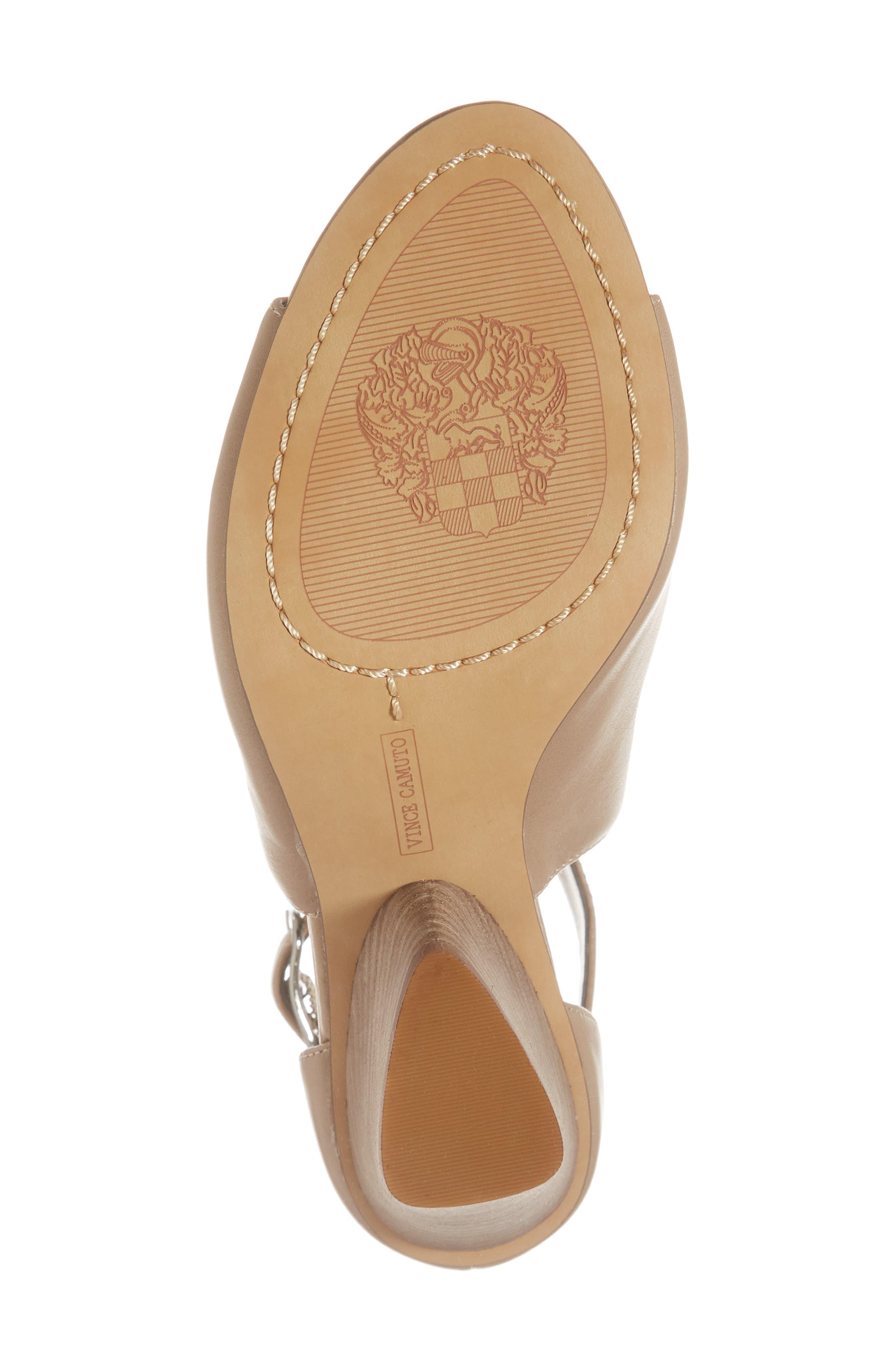 Adaren Peep Toe Sandal,                             Alternate thumbnail 6, color,                             Dusty Trail Leather