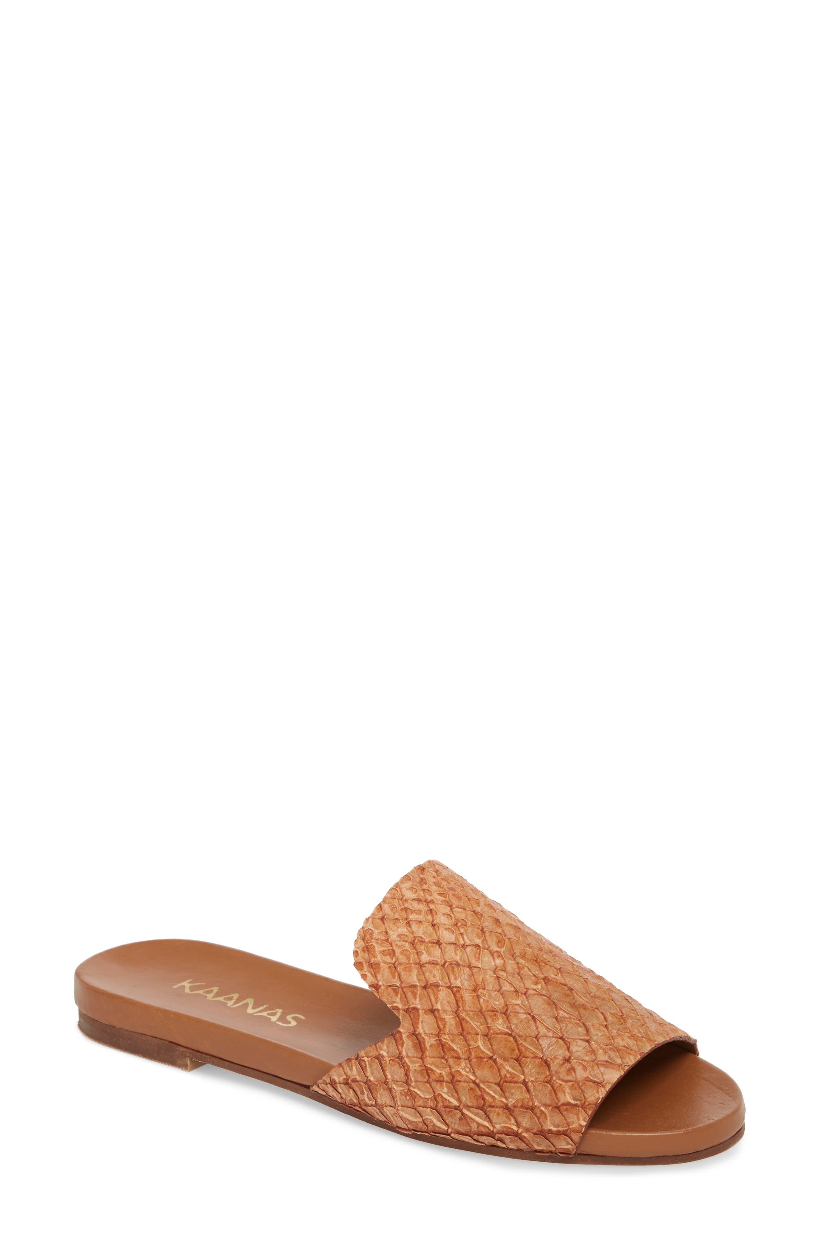 Leticia Loafer Mule Sandal,                         Main,                         color, Honey