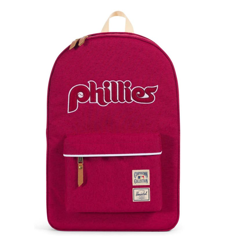 b3b187a3e4b6 Heritage - Mlb Cooperstown Collection Backpack - Red In Philadelphia  Phillies