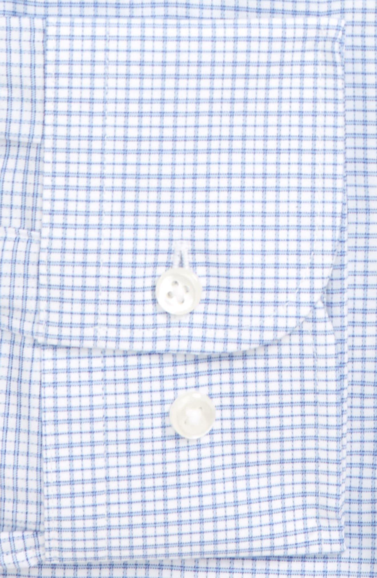 Trim Fit Check Dress Shirt,                             Alternate thumbnail 2, color,                             Blue Lake
