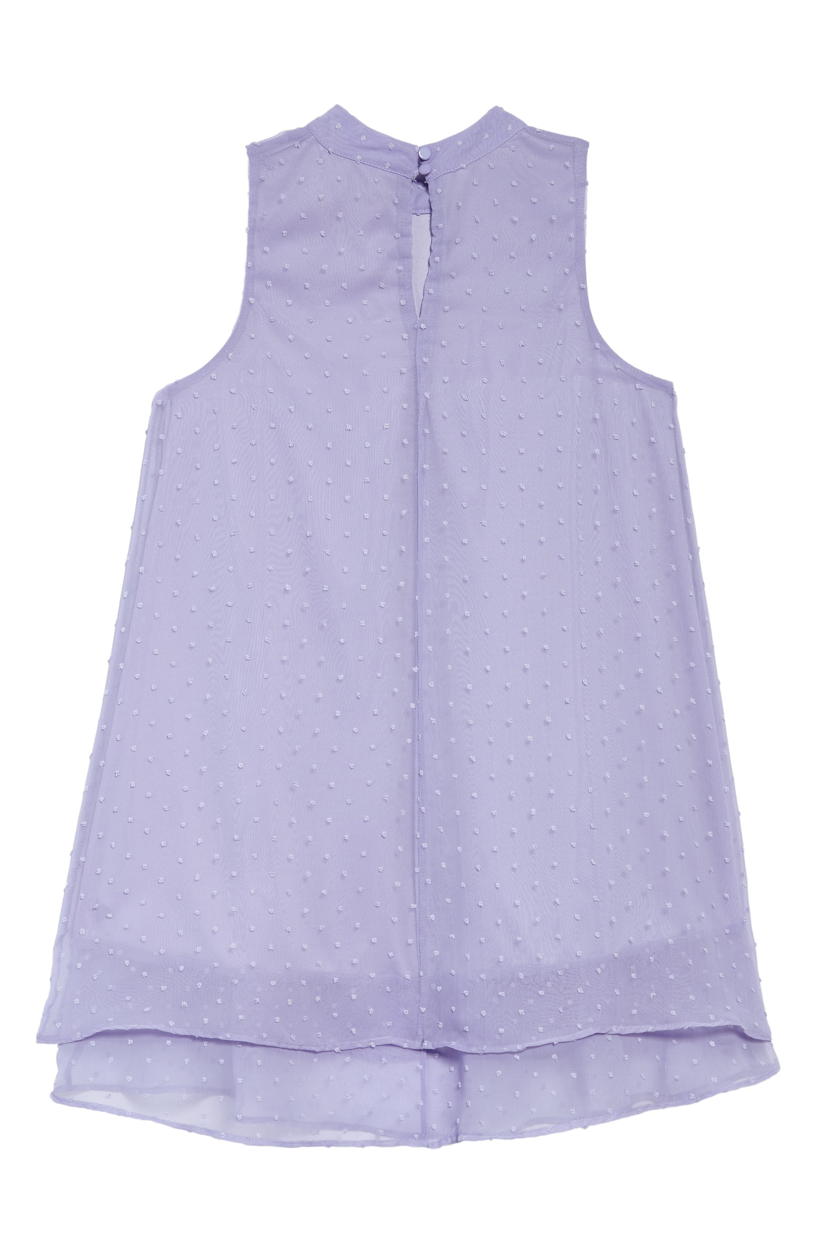 Swiss Dot Trapeze Dress,                             Alternate thumbnail 2, color,                             Periwinkle