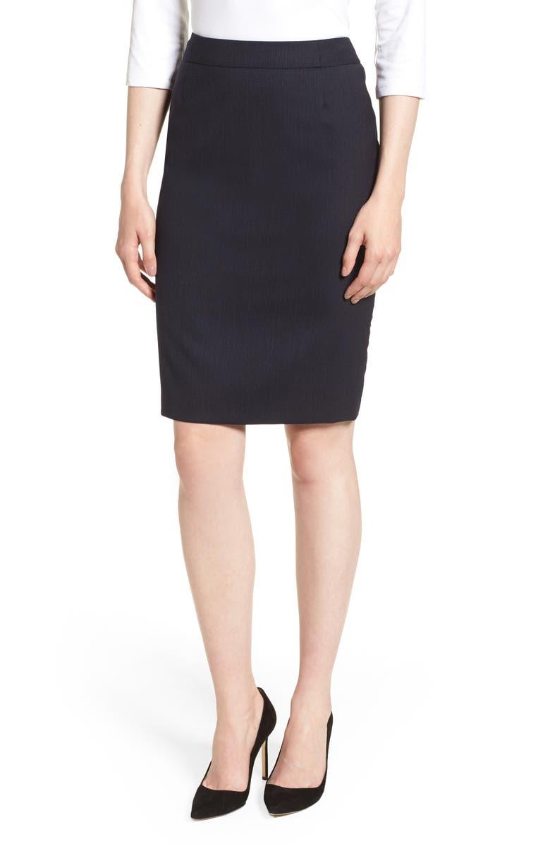 Vimahina Monostripe Stretch Wool Suit Skirt