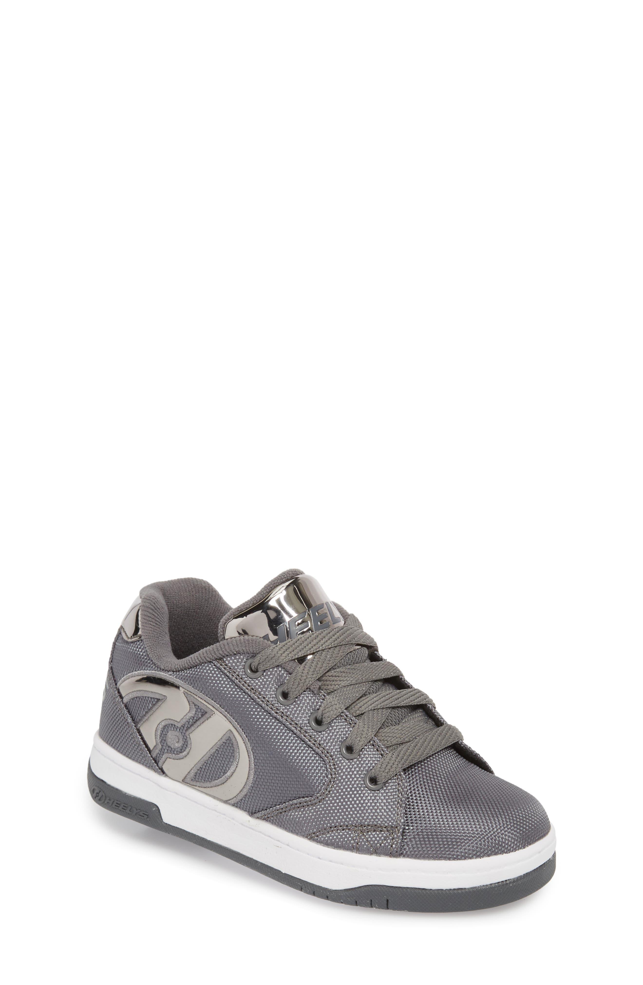 Heels Propel Ballistic Sneaker,                             Main thumbnail 1, color,                             Charcoal/ Pewter