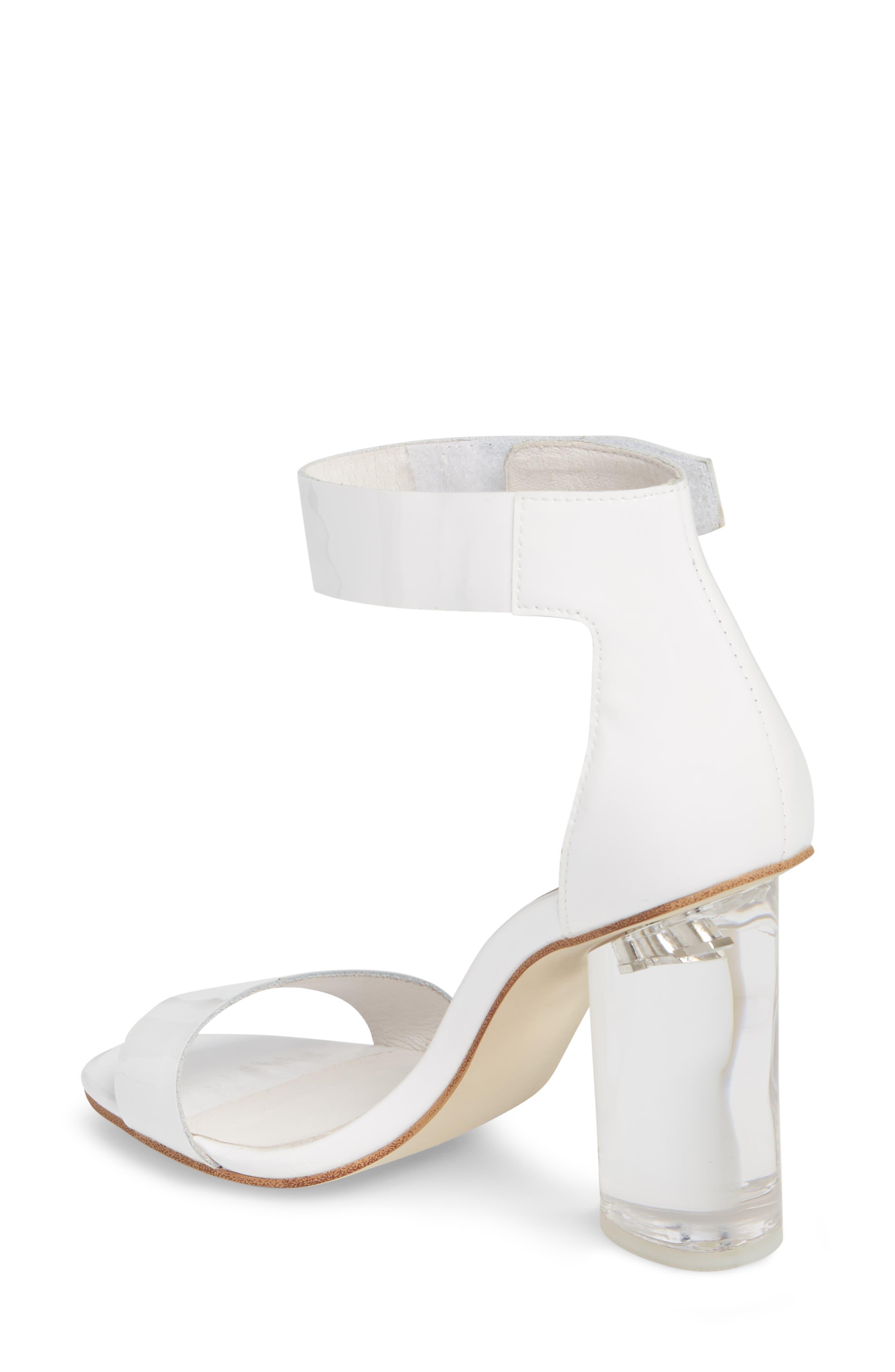 Alessa Clear Heel Sandal,                             Alternate thumbnail 2, color,                             White Patent