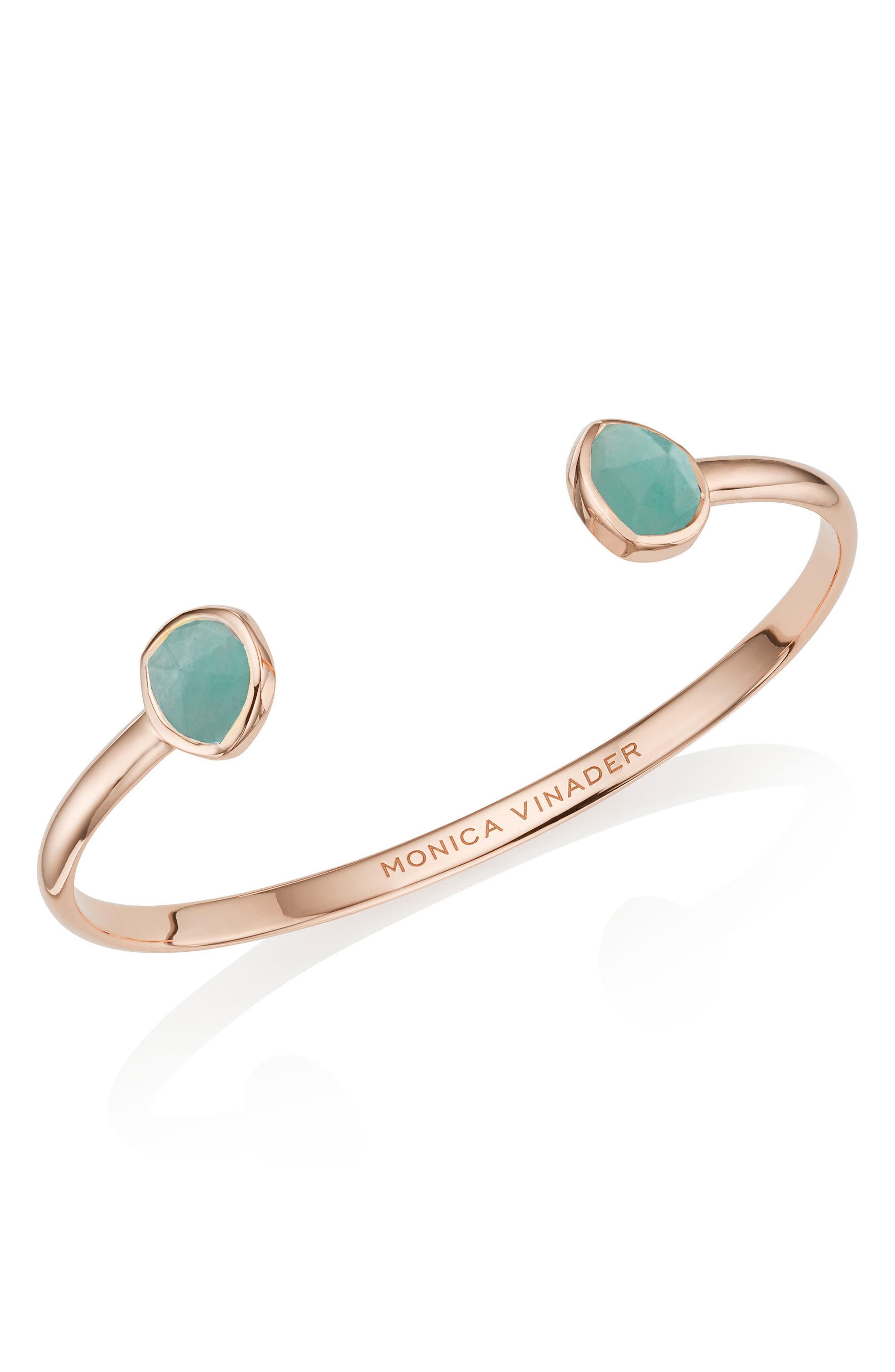 Siren Cuff Bracelet,                             Main thumbnail 1, color,                             Rose Gold/ Amazonite