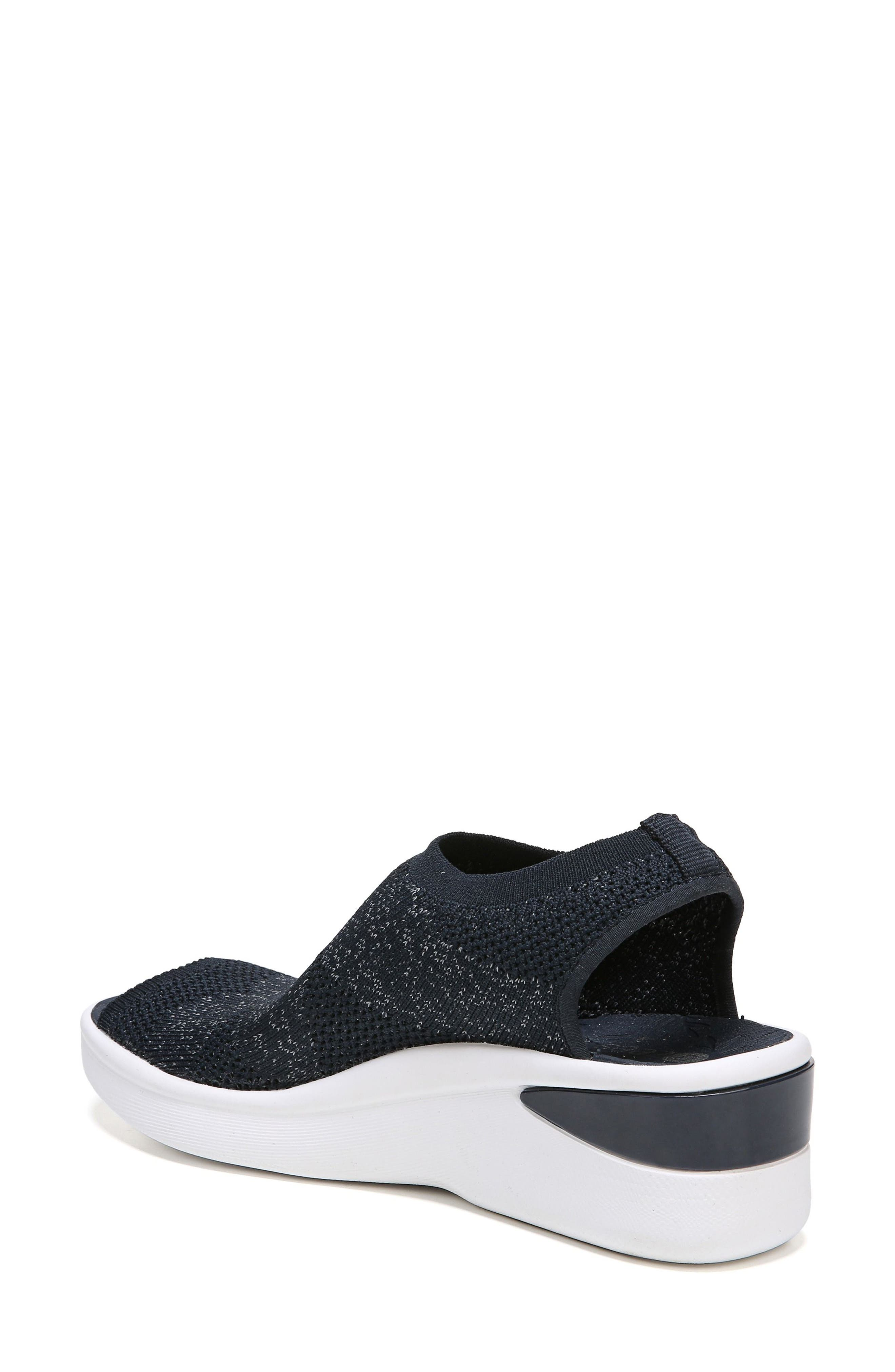 Secret Peep Toe Knit Sneaker,                             Alternate thumbnail 2, color,                             Blue Fabric