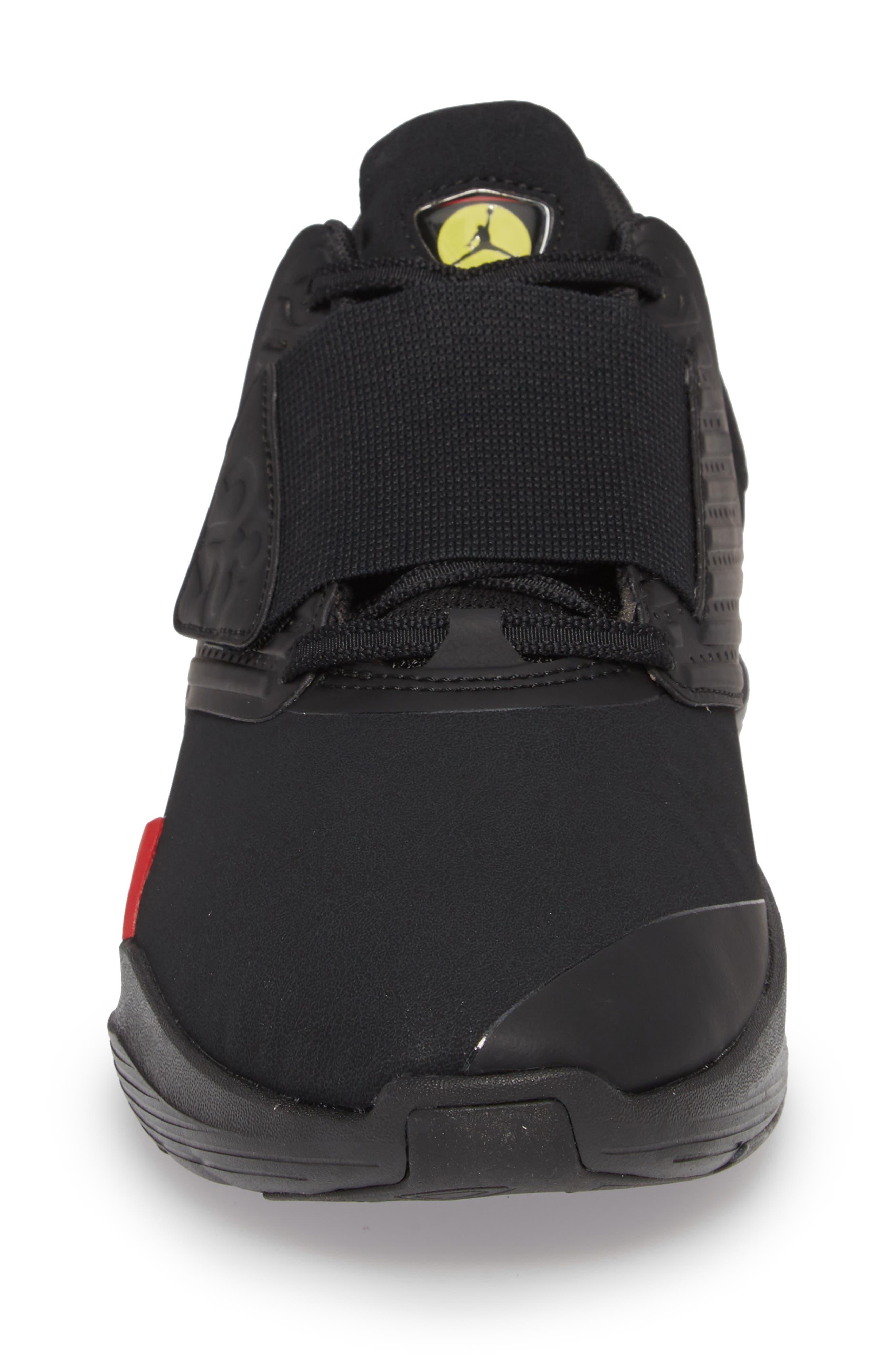 Air Jordan Relentless Training Sneaker,                             Alternate thumbnail 4, color,                             Black/ Varsity Red/ Dandelion