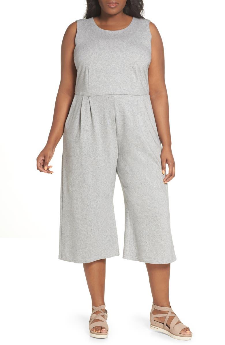 Crop Cotton Knit Jumpsuit