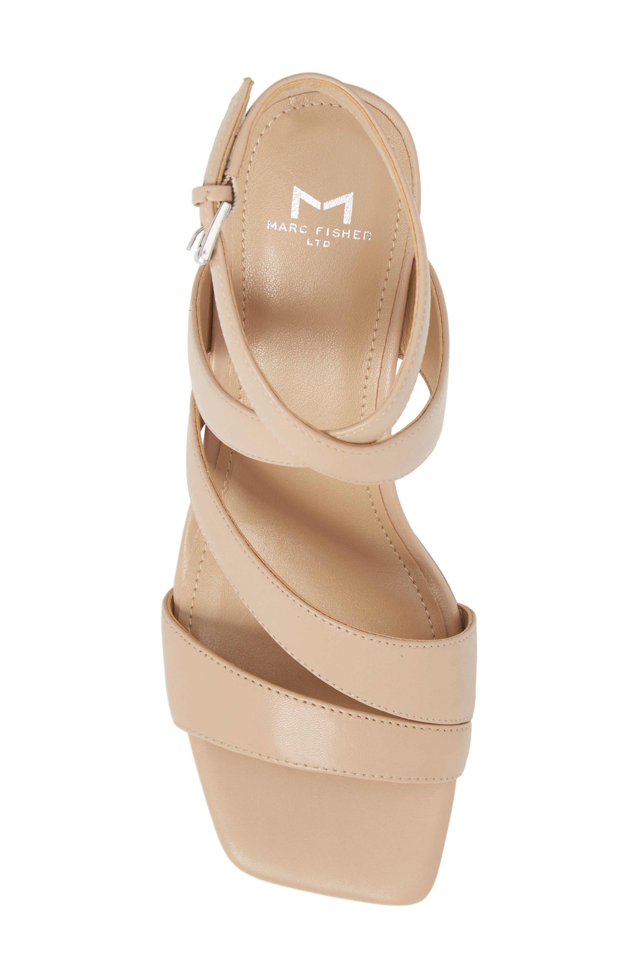 Marc Fischer LTD Idana Strappy Sandal,                             Alternate thumbnail 5, color,                             Lite Latte Leather