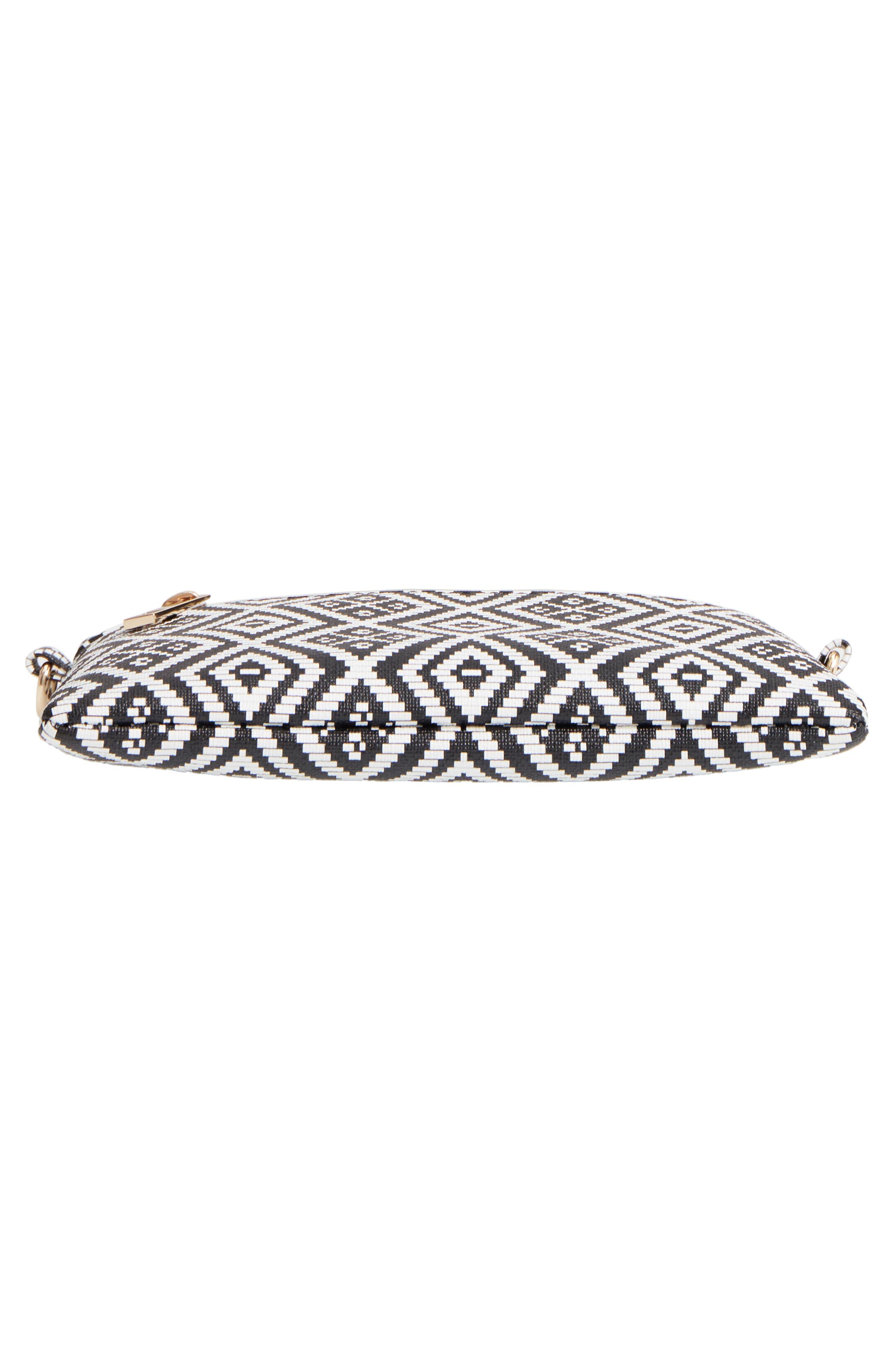 Weave Pattern Convertible Crossbody Wristlet,                             Alternate thumbnail 5, color,                             Black/ White