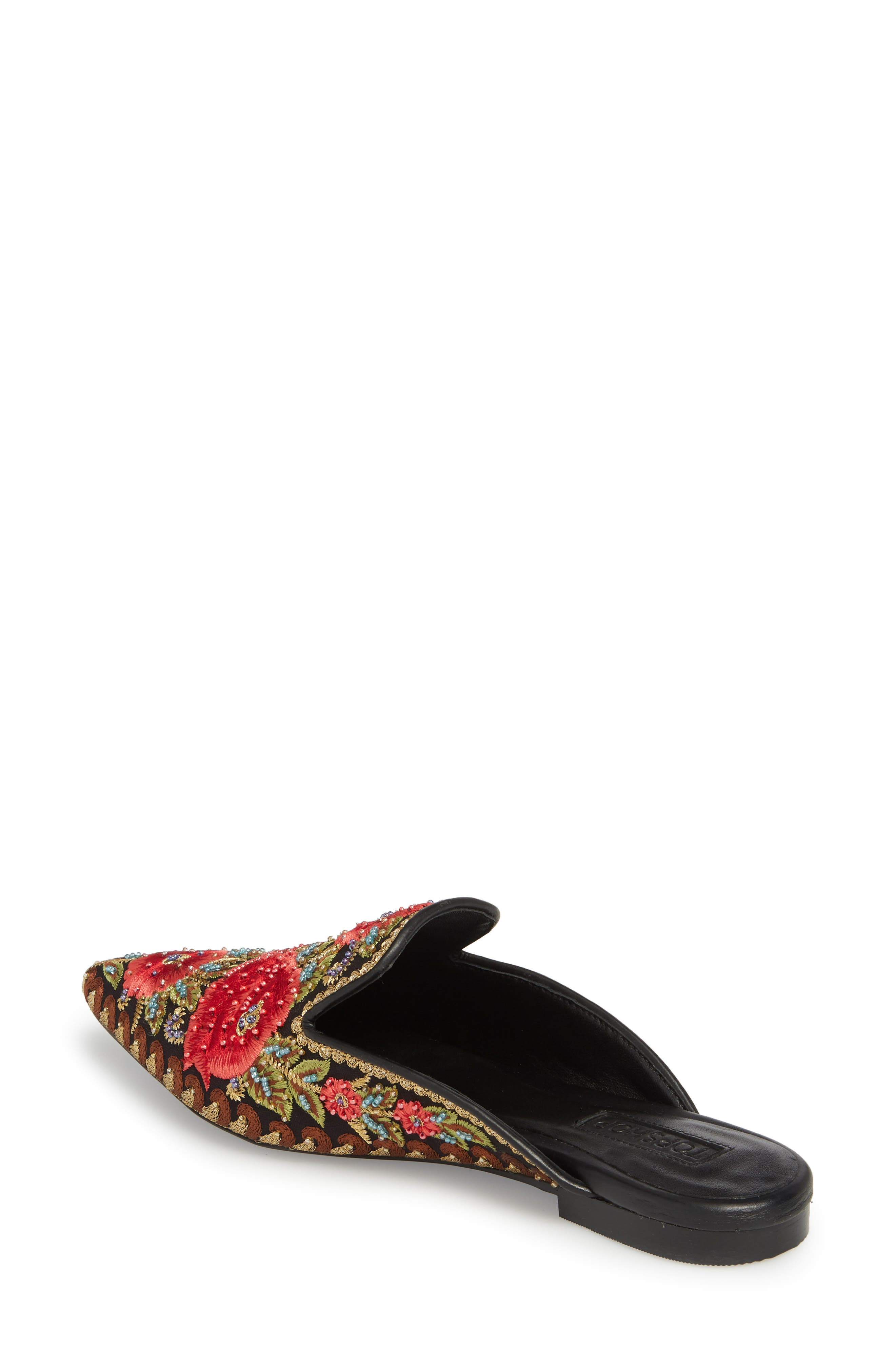 Katja Embroidered Mule,                             Alternate thumbnail 2, color,                             Black Multi