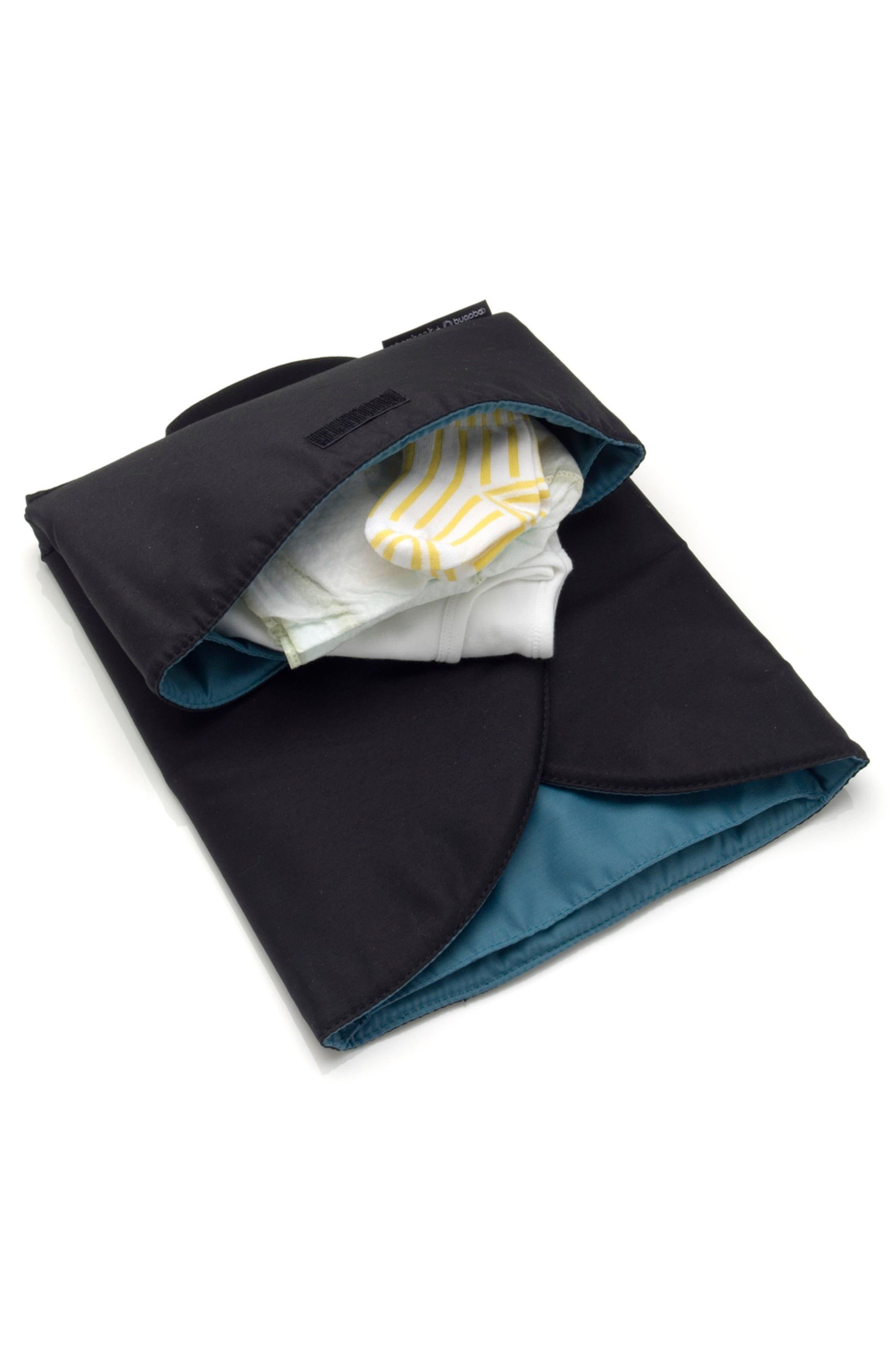 x Storksak Leather Diaper Tote Bag,                             Alternate thumbnail 4, color,                             Black