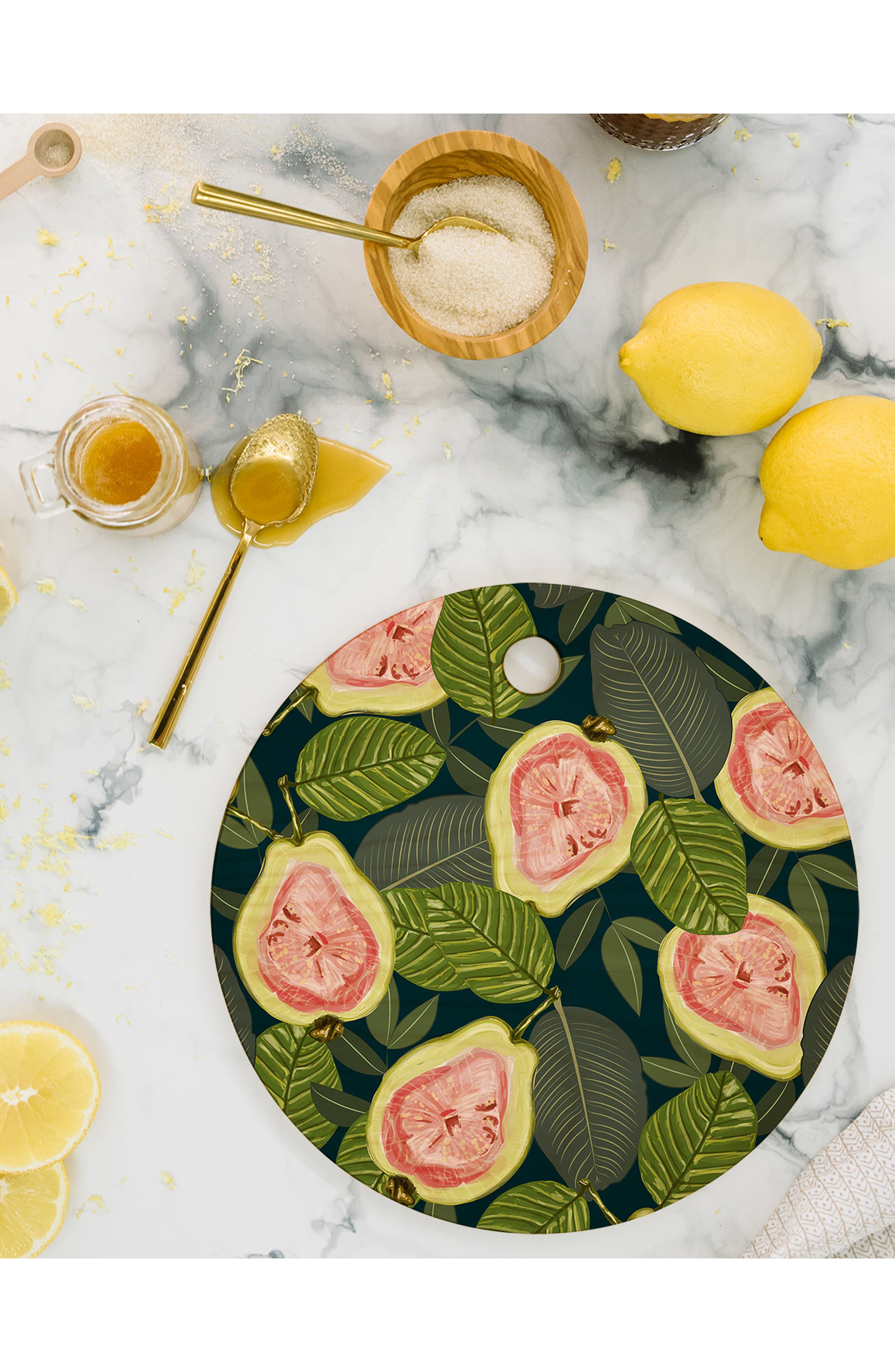 83 Oranges Guava Cutting Board,                             Alternate thumbnail 2, color,                             Pink