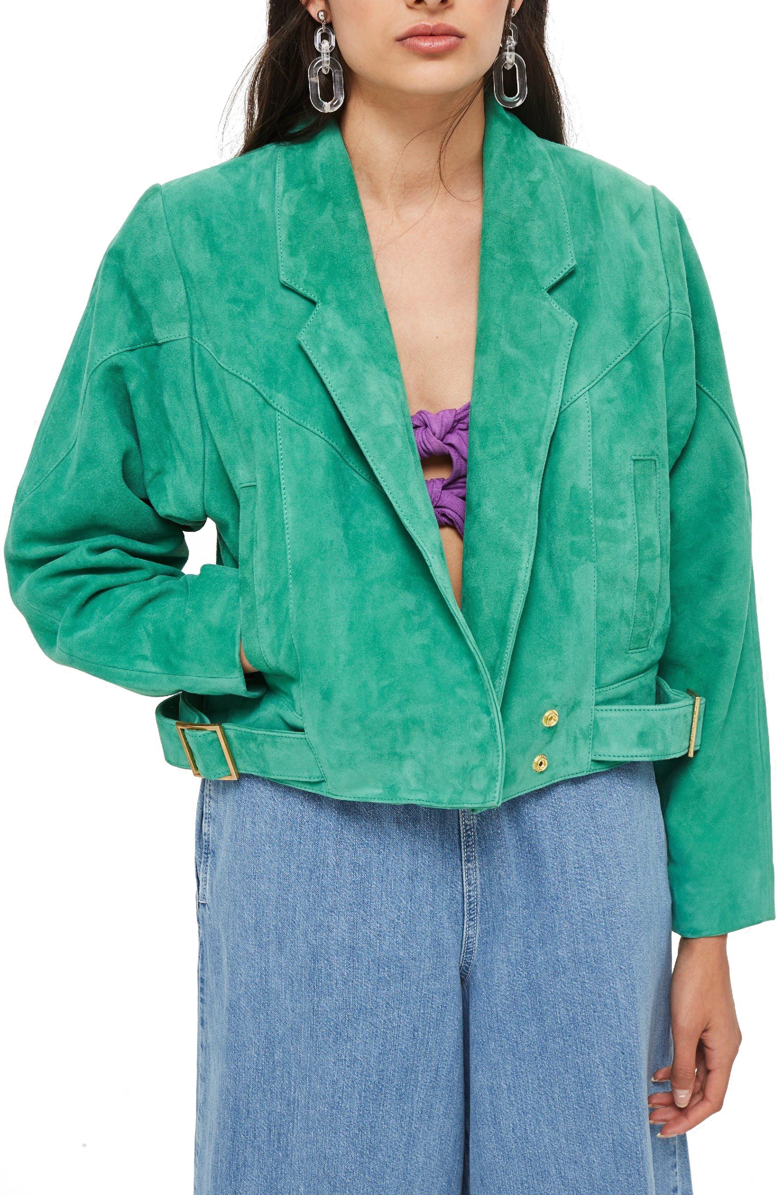 Hawkes Suede Jacket,                             Main thumbnail 1, color,                             Green