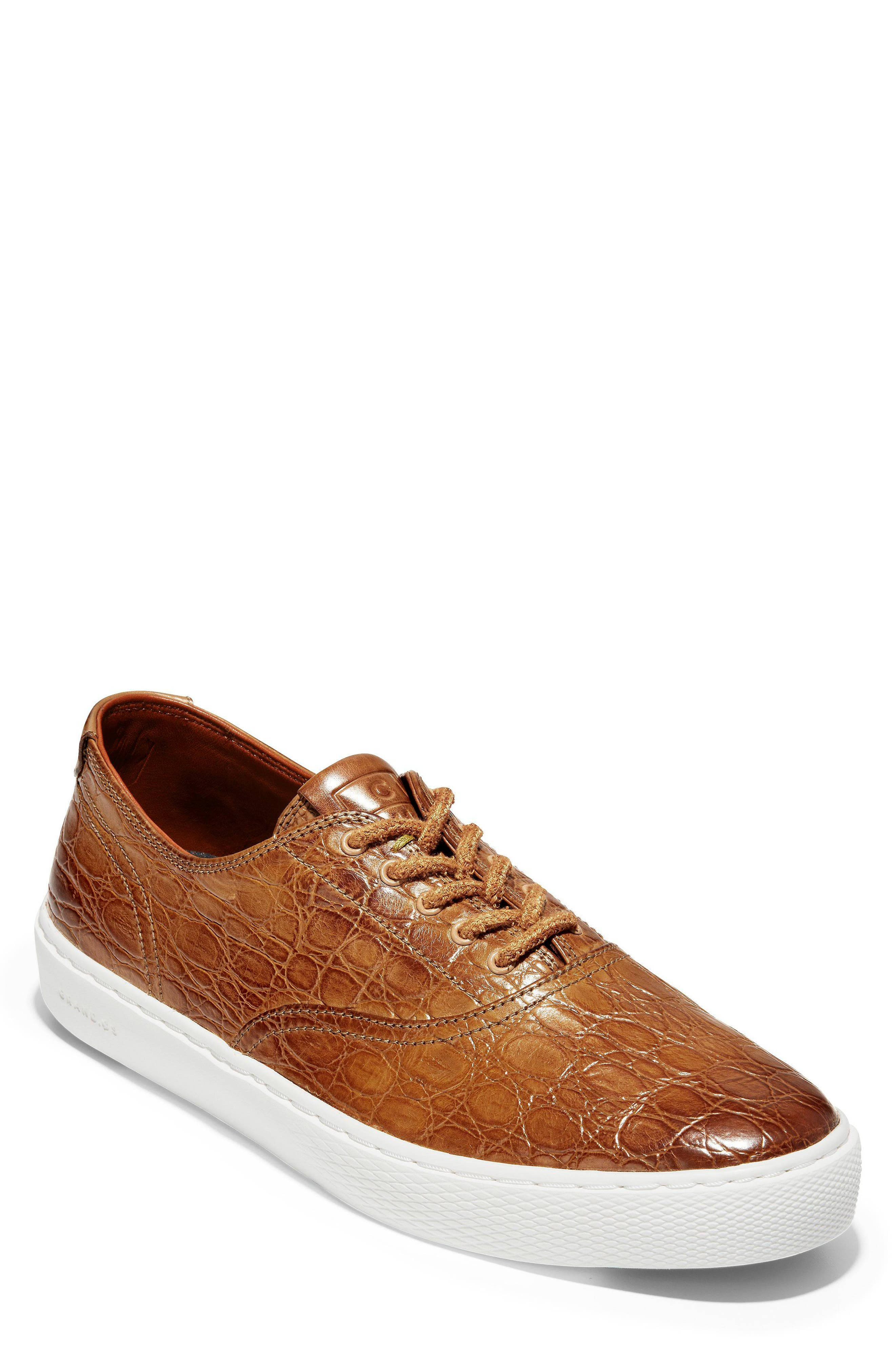 GrandPro Deck Low Top Sneaker,                             Main thumbnail 1, color,                             Brown/ White Leather