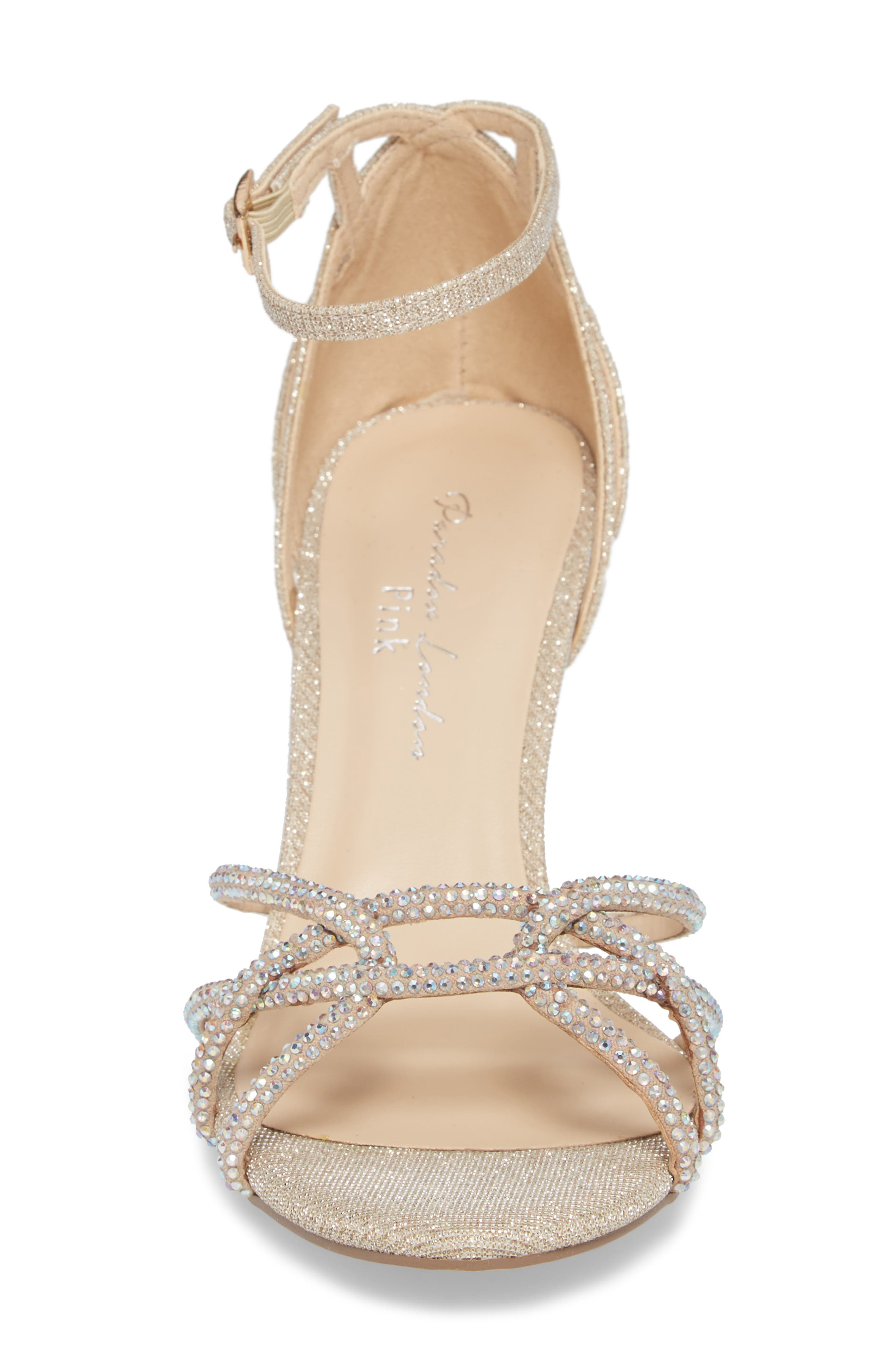Majesty Sandal,                             Alternate thumbnail 4, color,                             Champagne Fabric