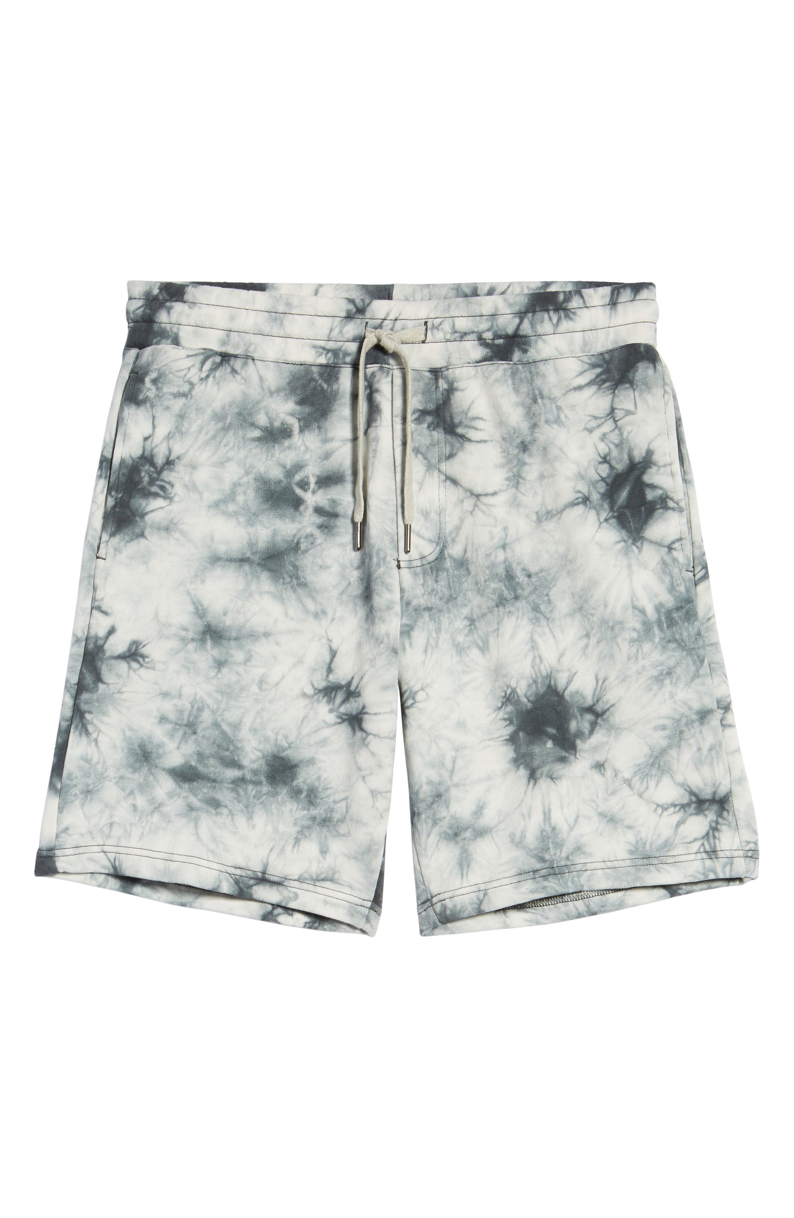 Twisted 9-Inch Cotton Shorts,                             Alternate thumbnail 6, color,                             Blue Tie Dye