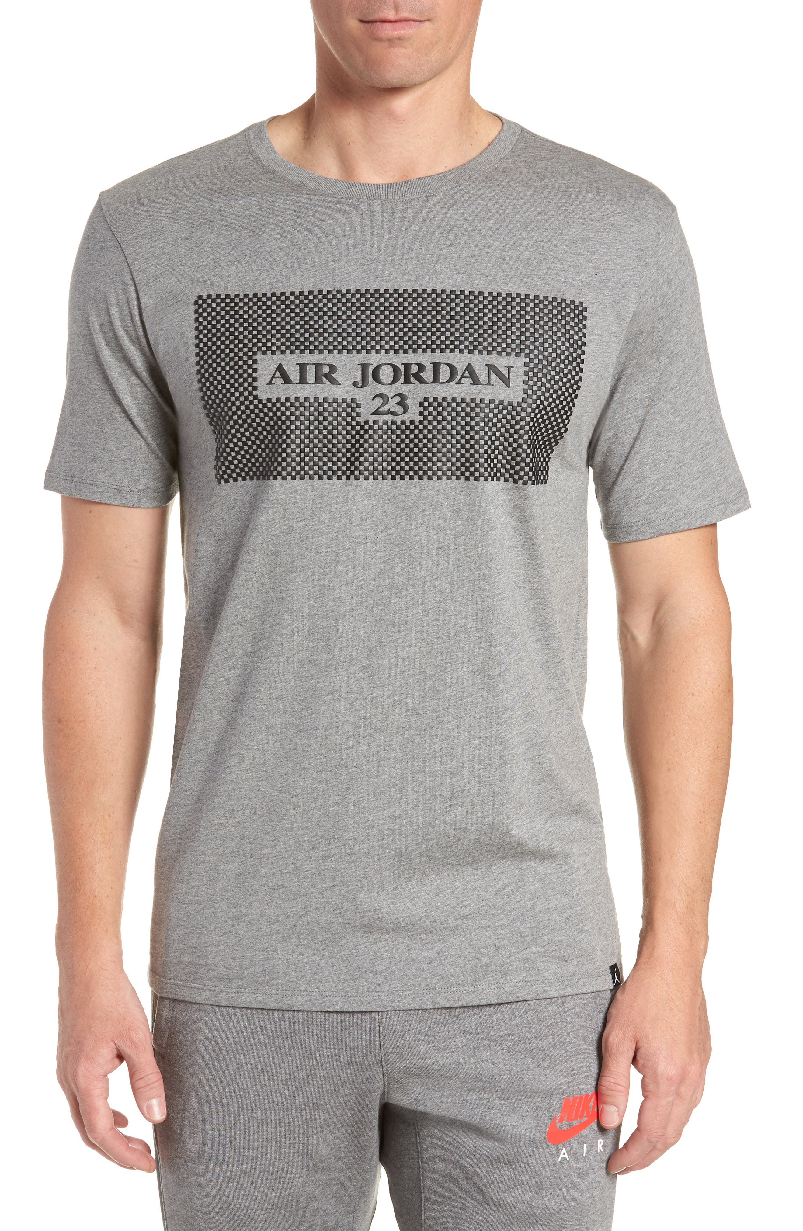 Air Jordan 23 T-Shirt,                             Main thumbnail 1, color,                             Carbon Heather/ Black