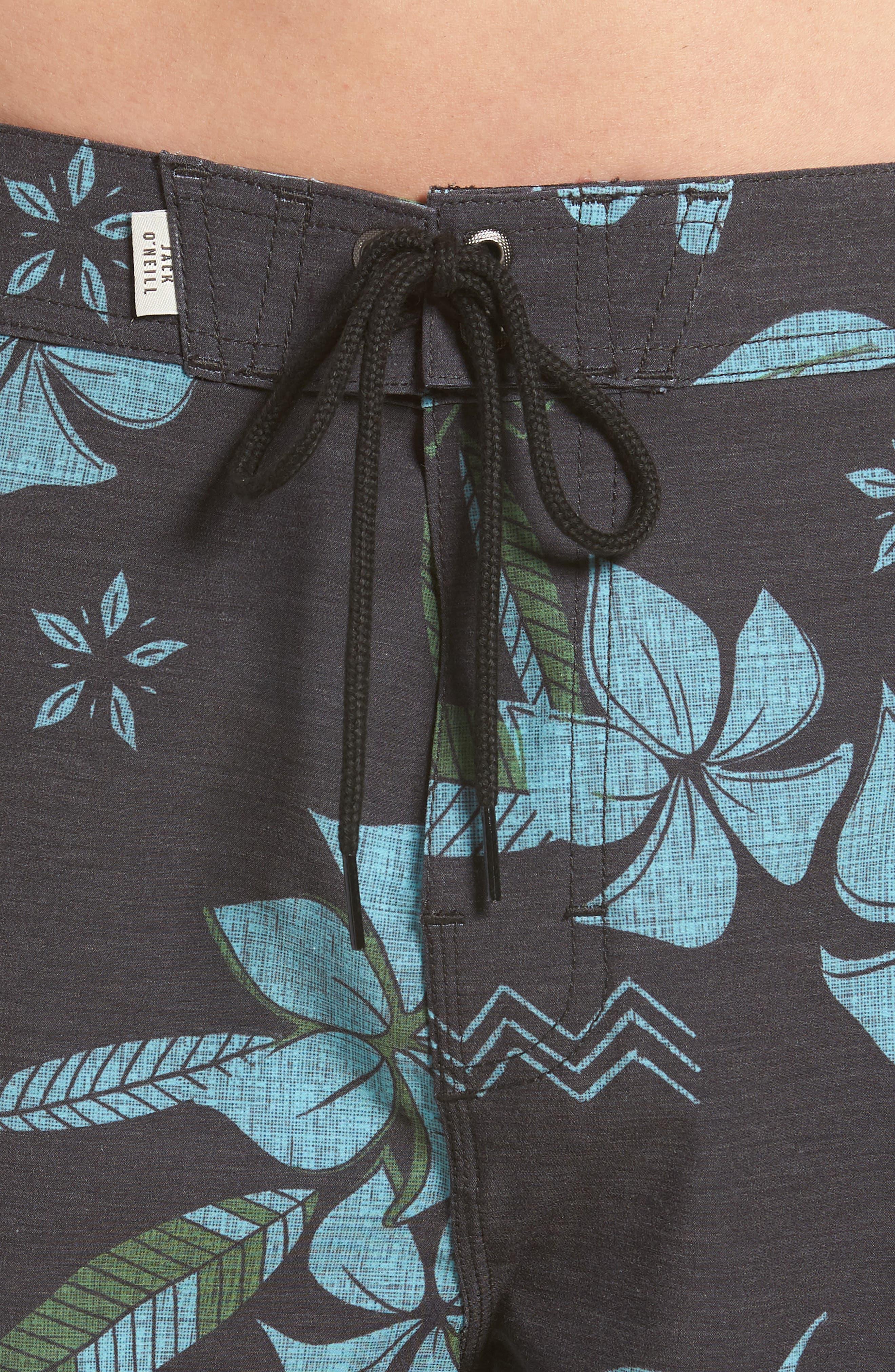 Maui Board Shorts,                             Alternate thumbnail 4, color,                             Black