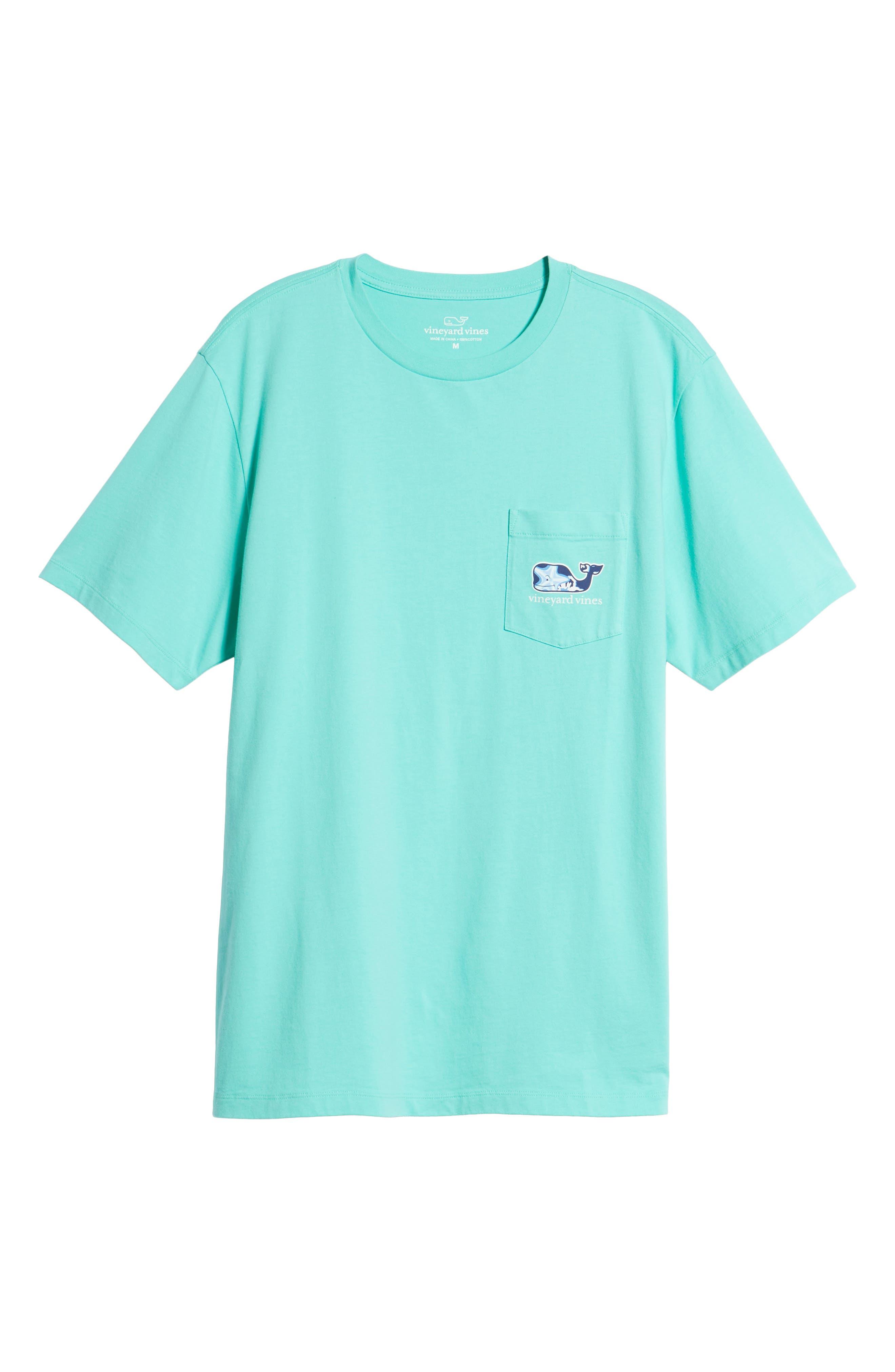 Starfish Whale Pocket T-Shirt,                             Alternate thumbnail 6, color,                             Capri Blue