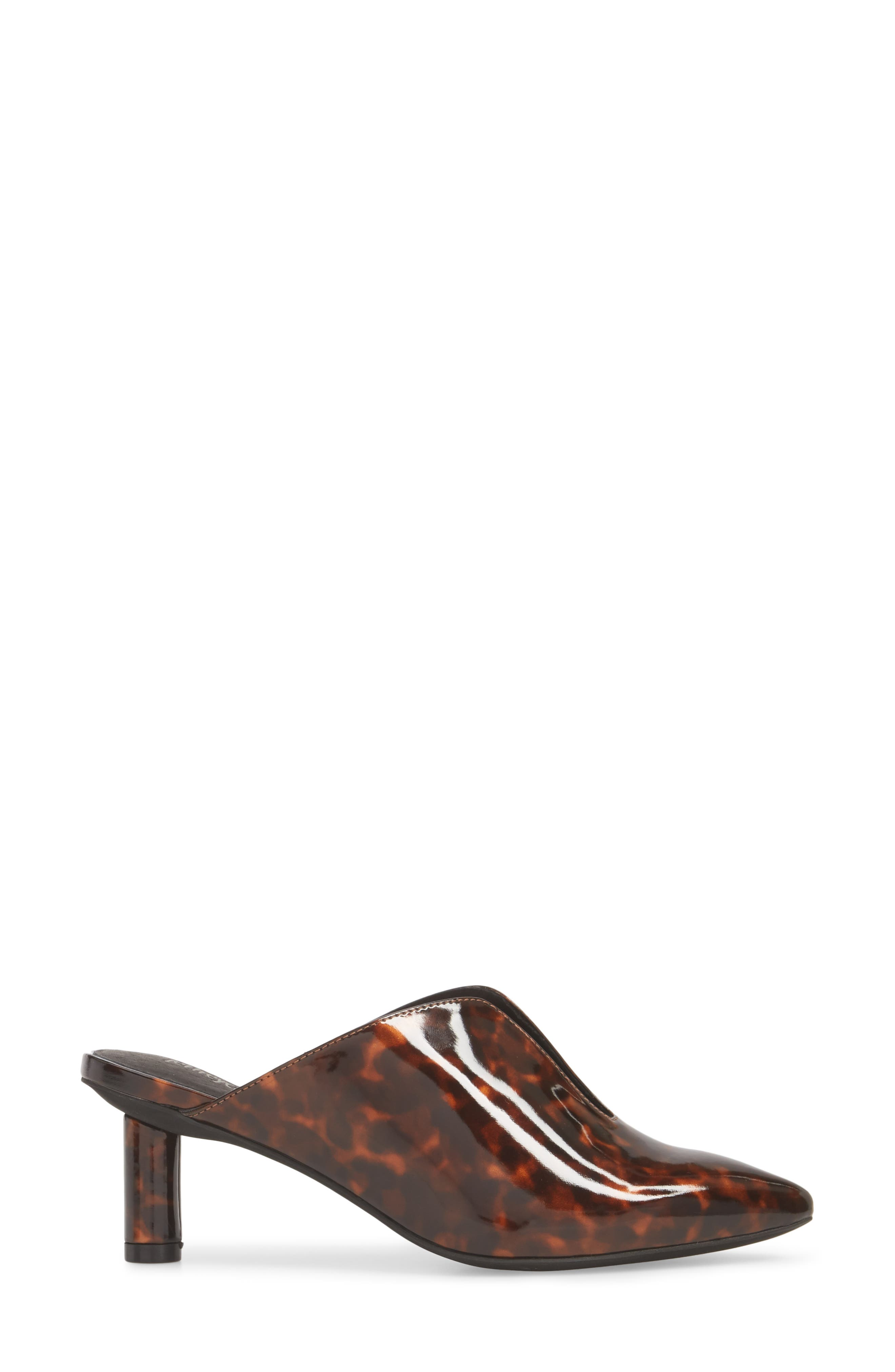 Saltaire Pointy Toe Mule,                             Alternate thumbnail 3, color,                             Tortoise