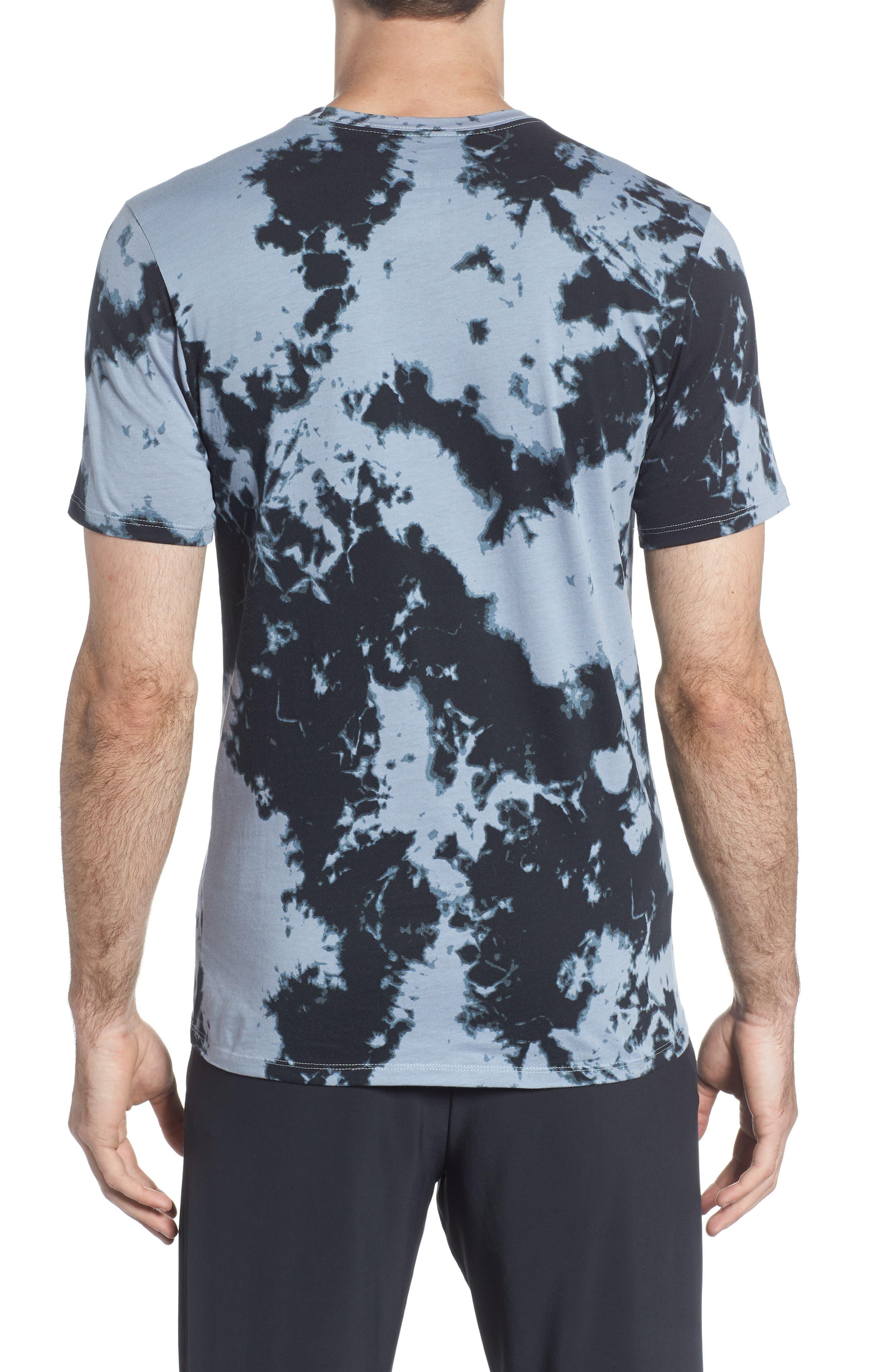 Sportswear Tie Dye T-Shirt,                             Alternate thumbnail 2, color,                             Wolf Grey/ White/ White