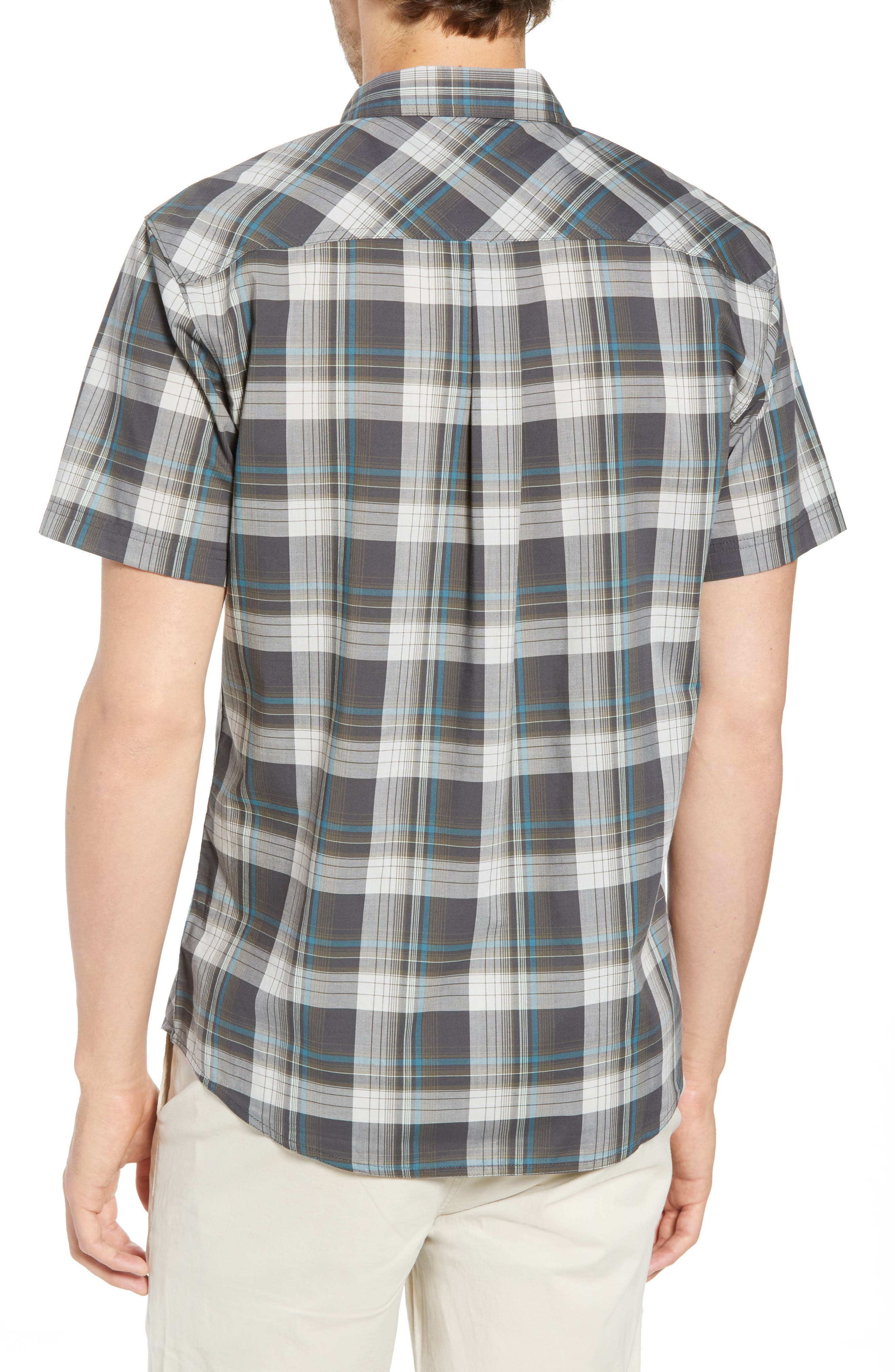 Gentry Short Sleeve Shirt,                             Alternate thumbnail 4, color,                             Asphalt