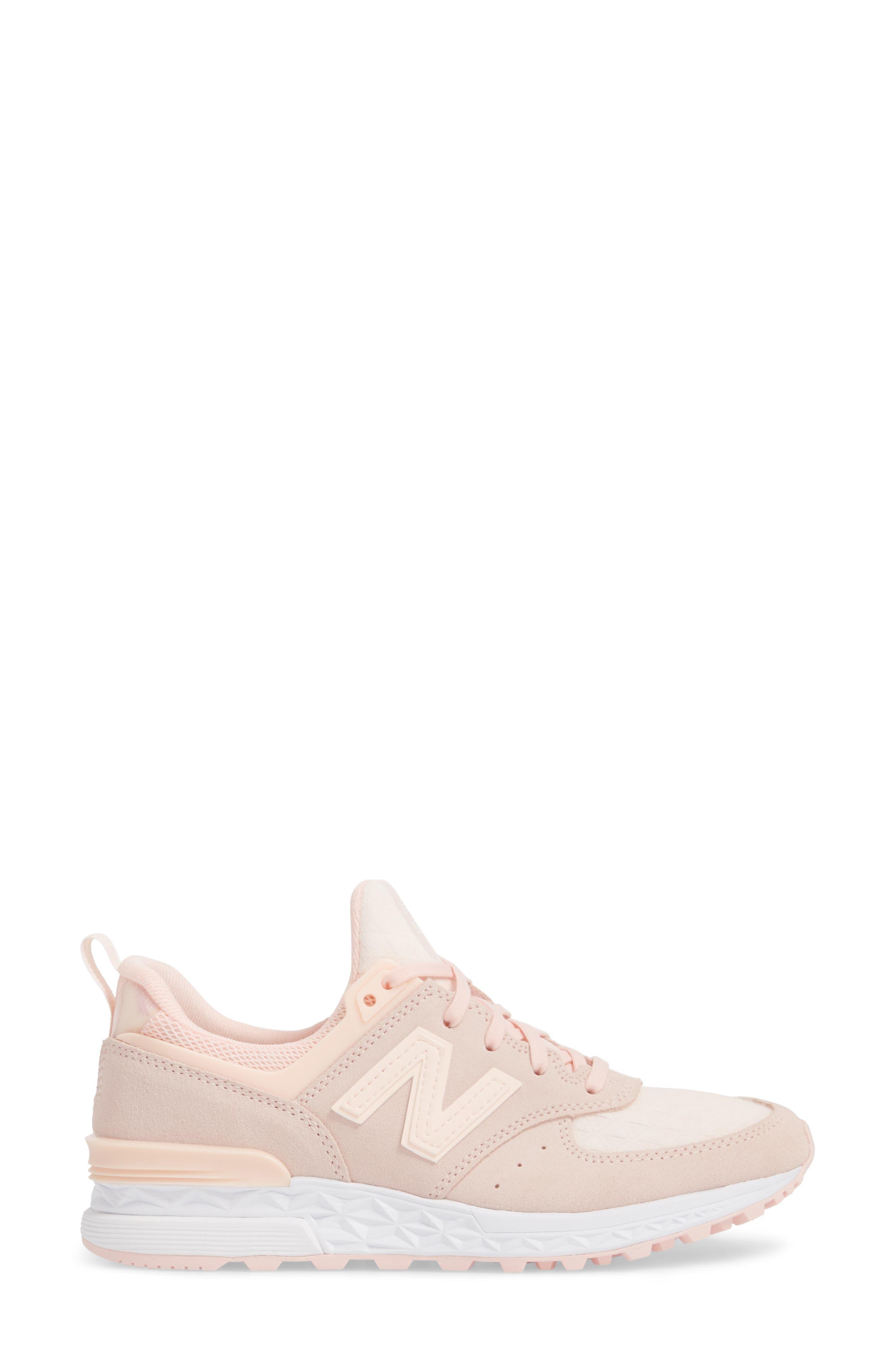 '574' Sneaker,                             Alternate thumbnail 3, color,                             Sunrise Glow