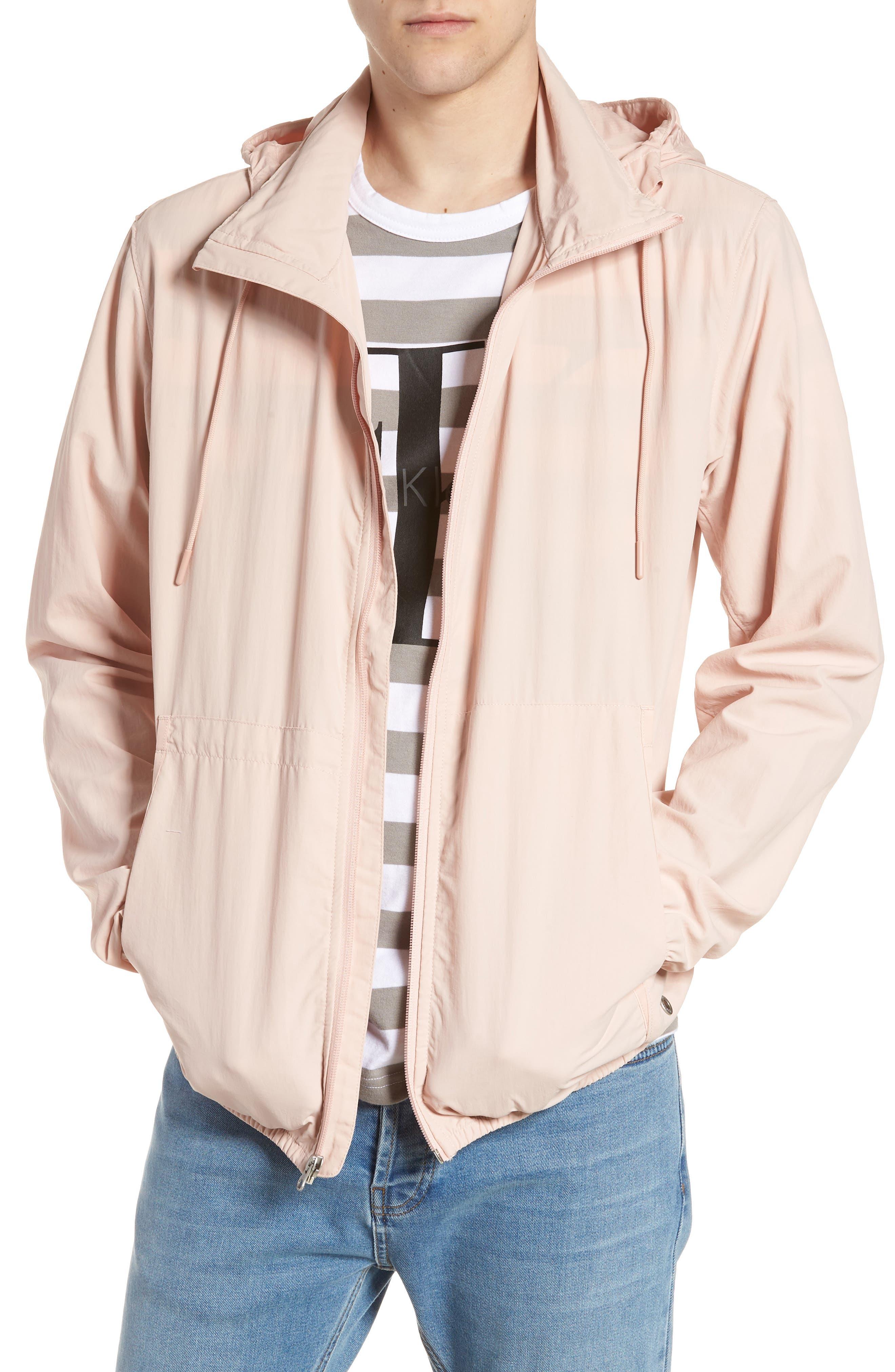 Wrinkled Stowaway Jacket,                         Main,                         color, Ash Rose