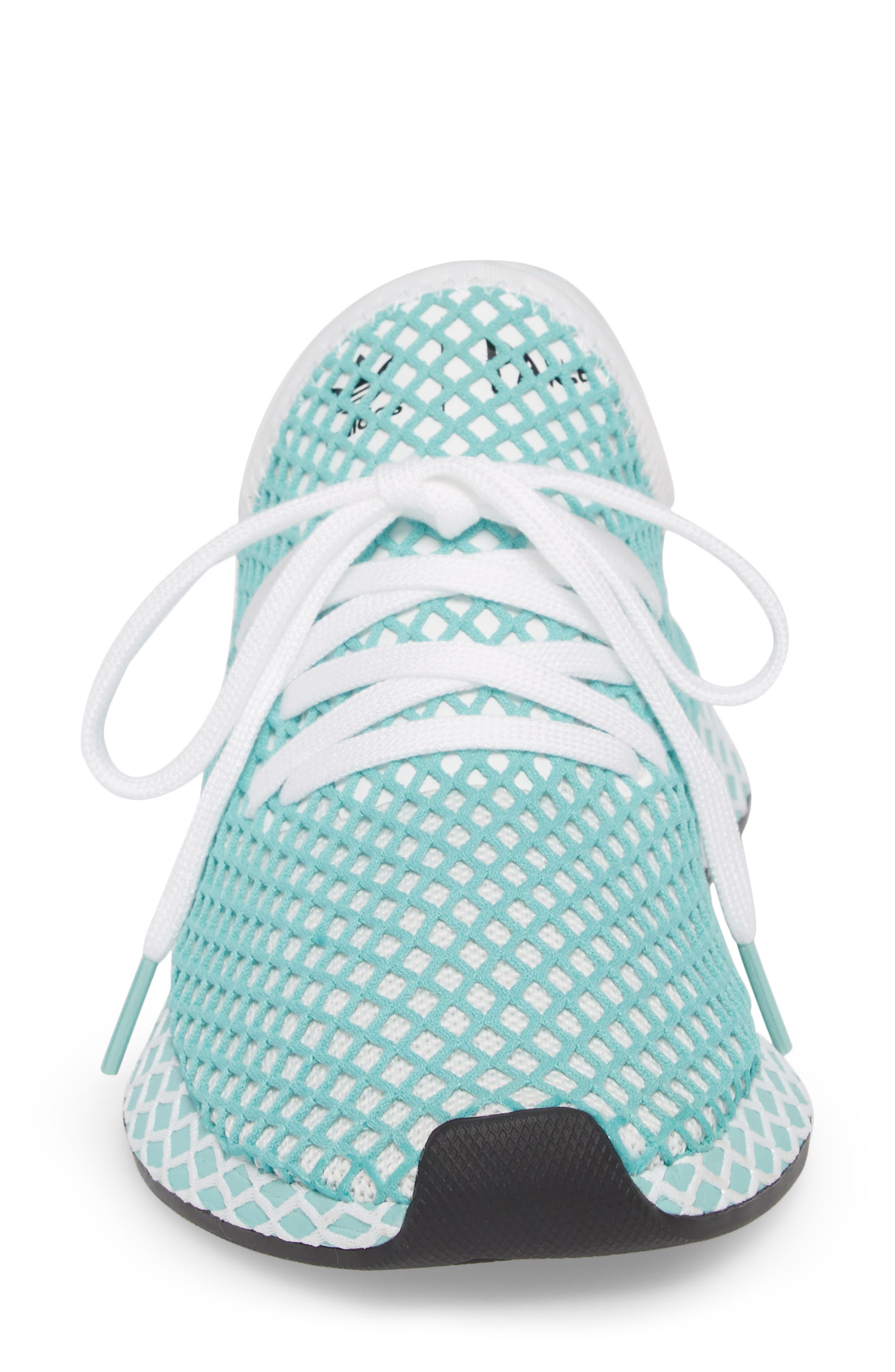 Deerupt x Parley Runner Sneaker,                             Alternate thumbnail 4, color,                             White/ White/ Blue Spirit