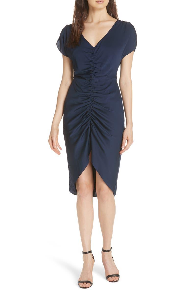 Alexa Ruched Stretch Silk Dress