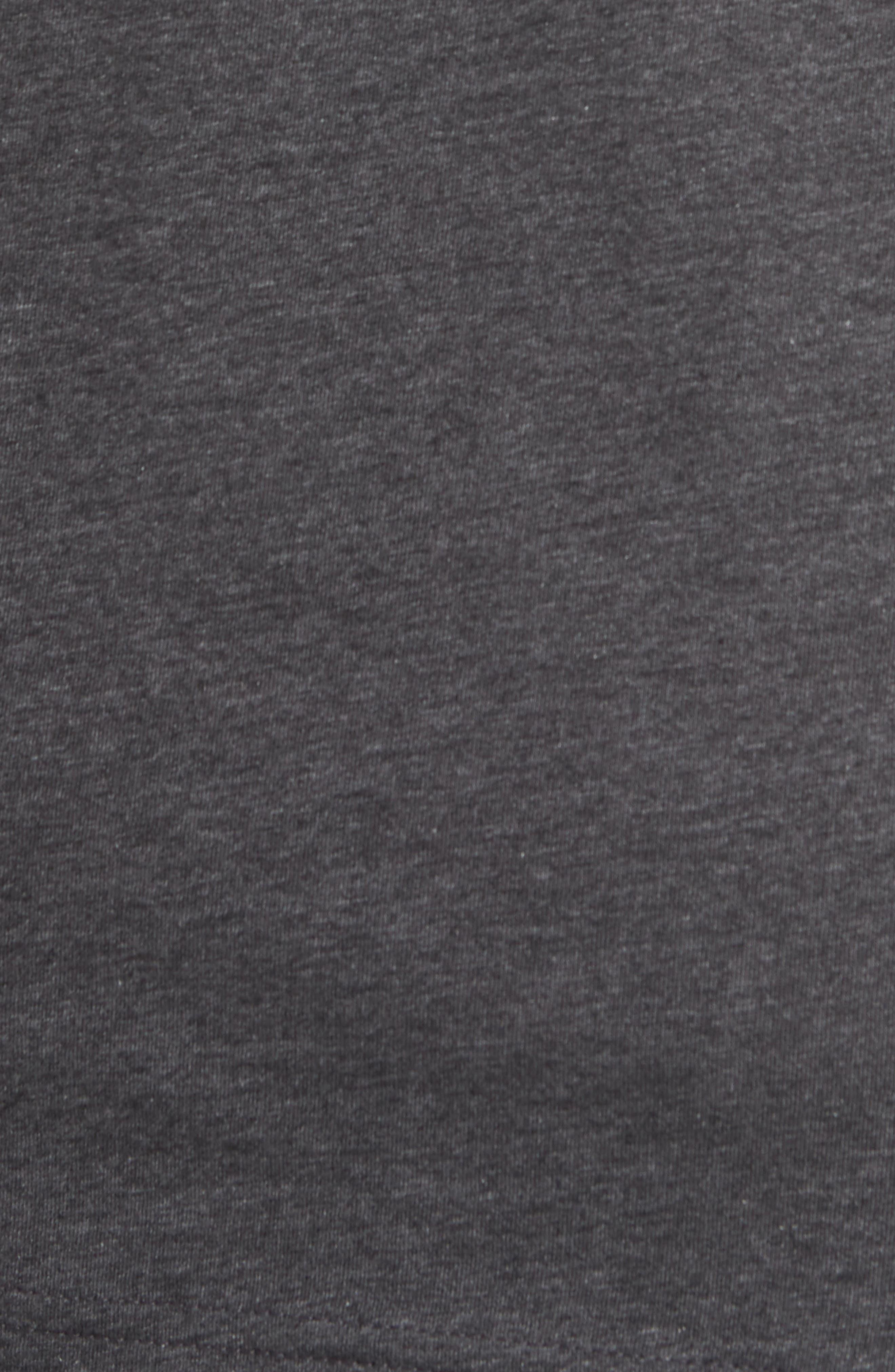 Flogging Print Pocket T-Shirt,                             Alternate thumbnail 3, color,                             Heather Grey Pinstripe