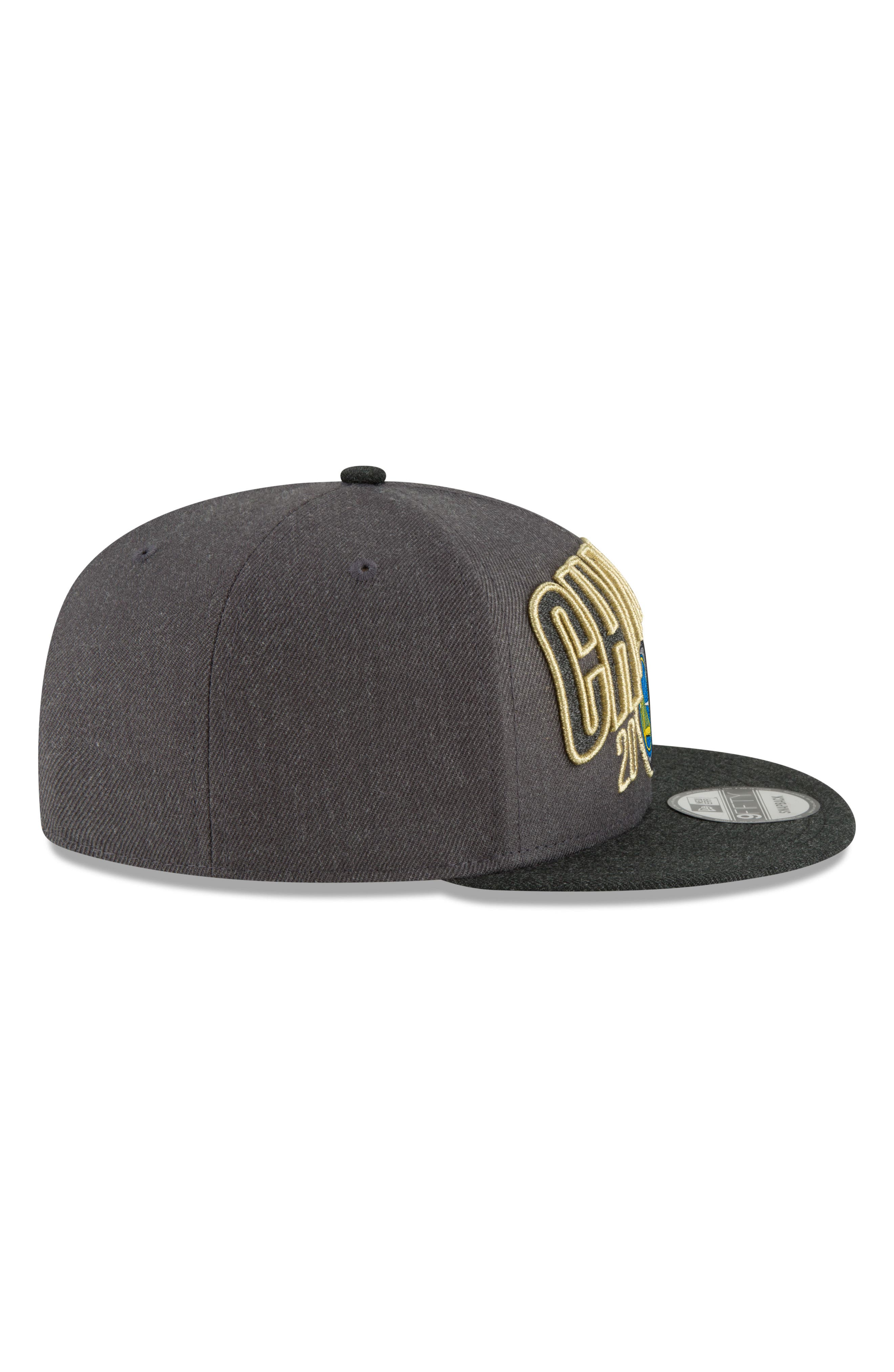2018 NBA Champions - Golden State Warriors 9Fifty Snapback Cap,                             Alternate thumbnail 2, color,                             Golden State Warriors