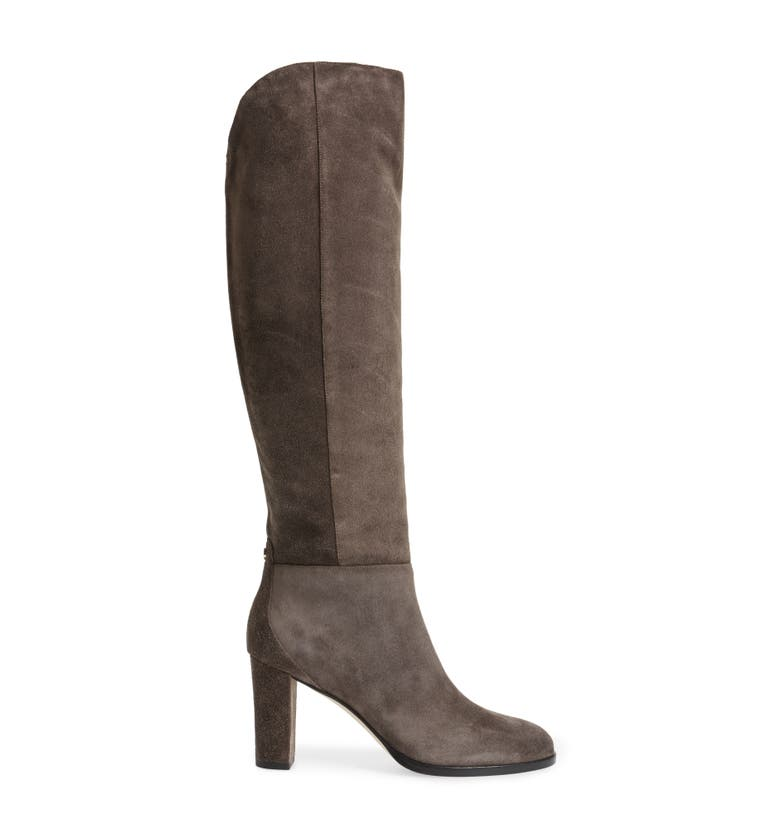 2d59b609590 Jimmy Choo Women S Madalie 80 High Block-Heel Boots In Dark Grey ...