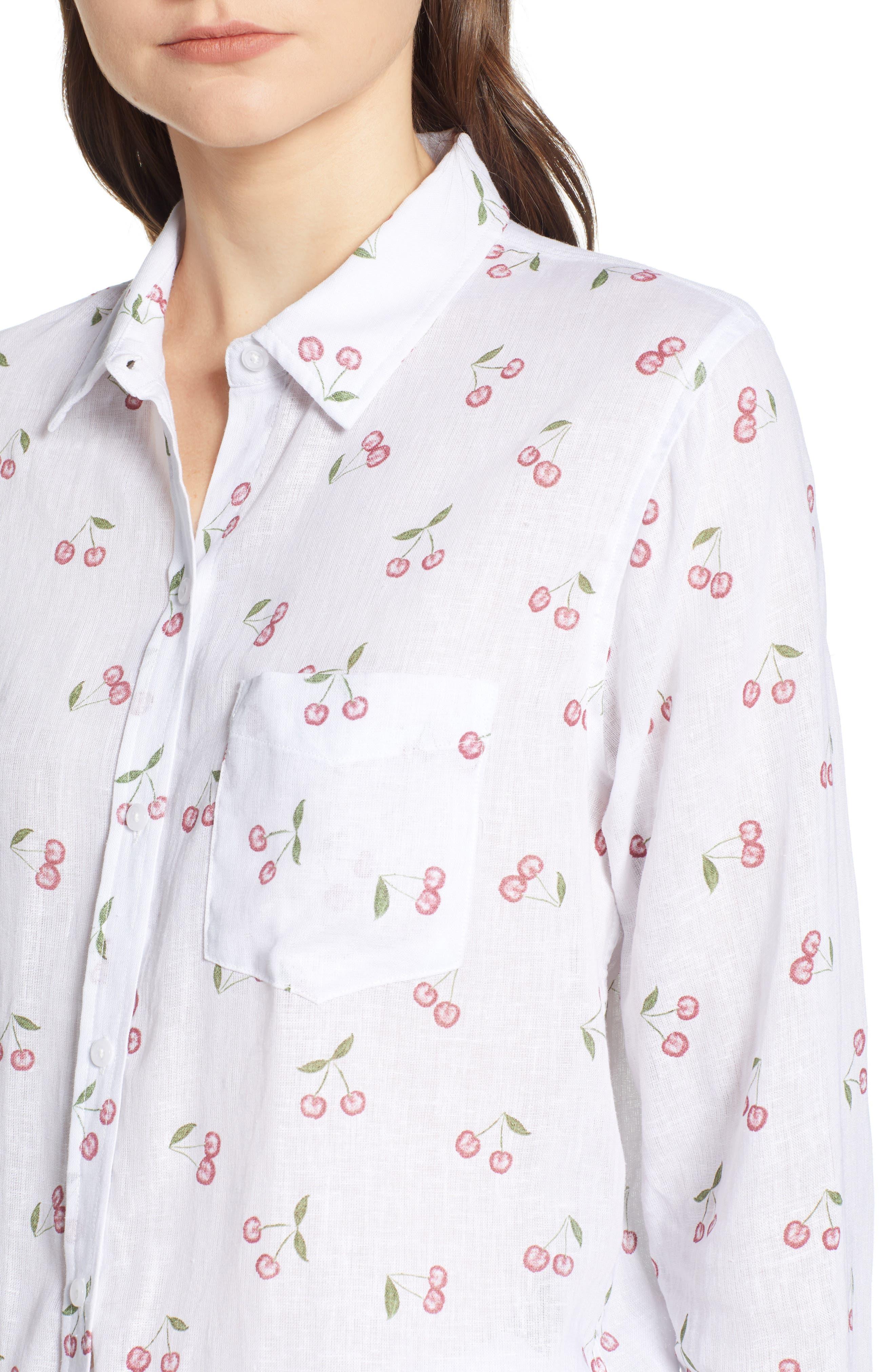 Charli Shirt,                             Alternate thumbnail 4, color,                             White Cherries