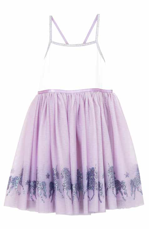 9ec437bc47b5 Zunie Glittery Unicorn Ballerina Dress (Toddler Girls, Little Girls & Big  Girls)