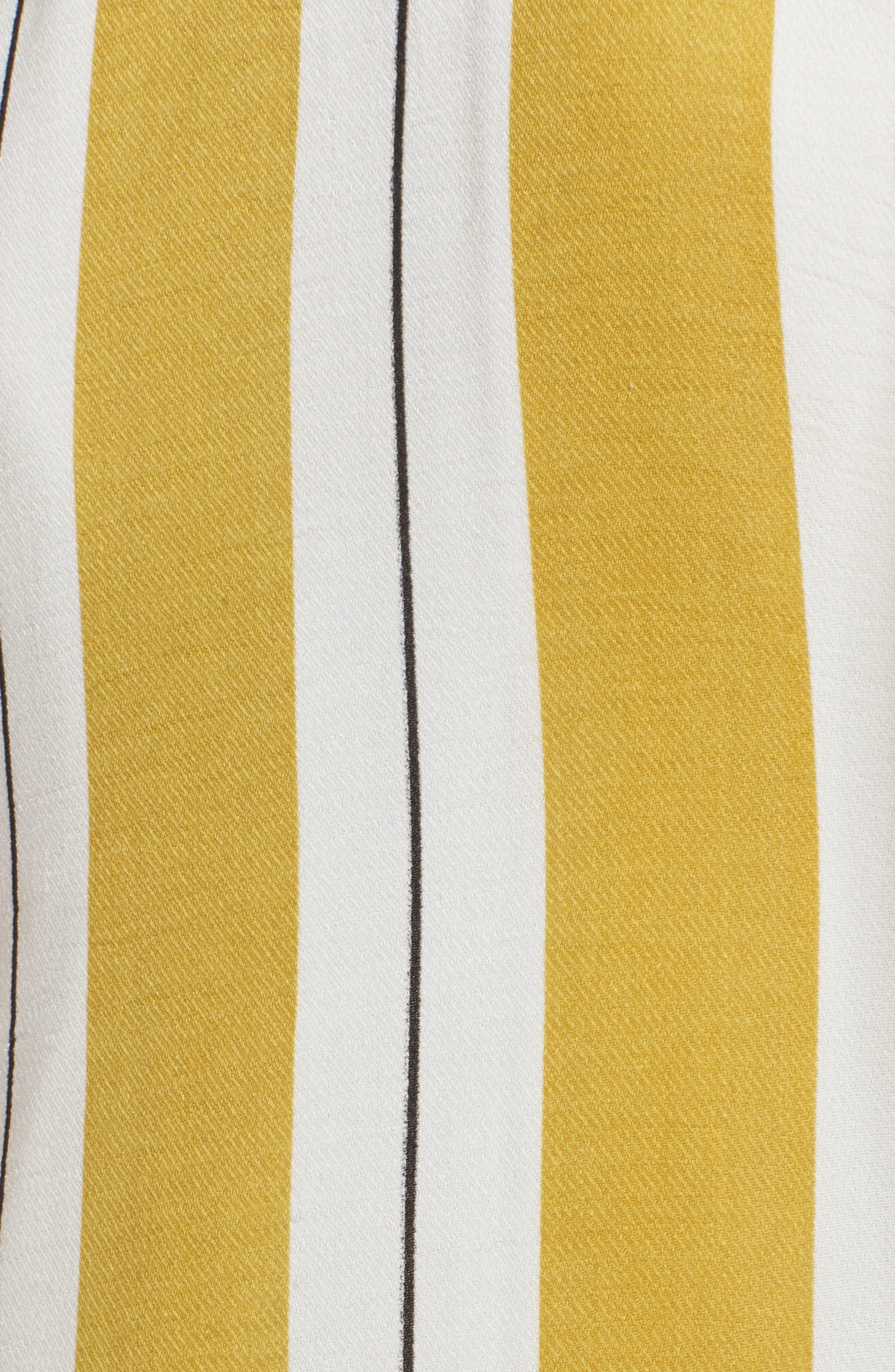 Stripe Midi Dress,                             Alternate thumbnail 3, color,                             Yellow Stripe Per Sample