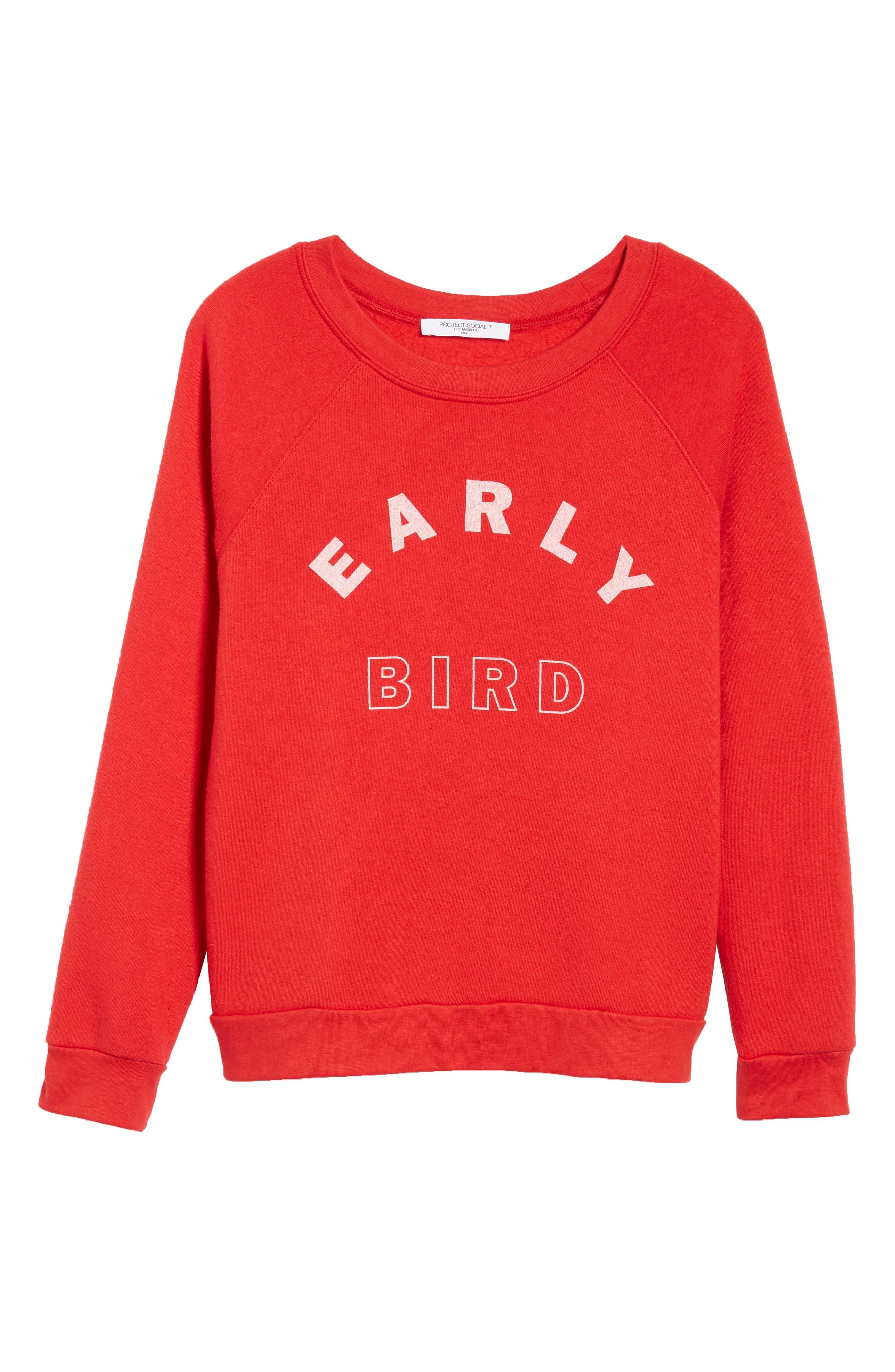 Reversible Sweatshirt,                             Alternate thumbnail 8, color,                             Red