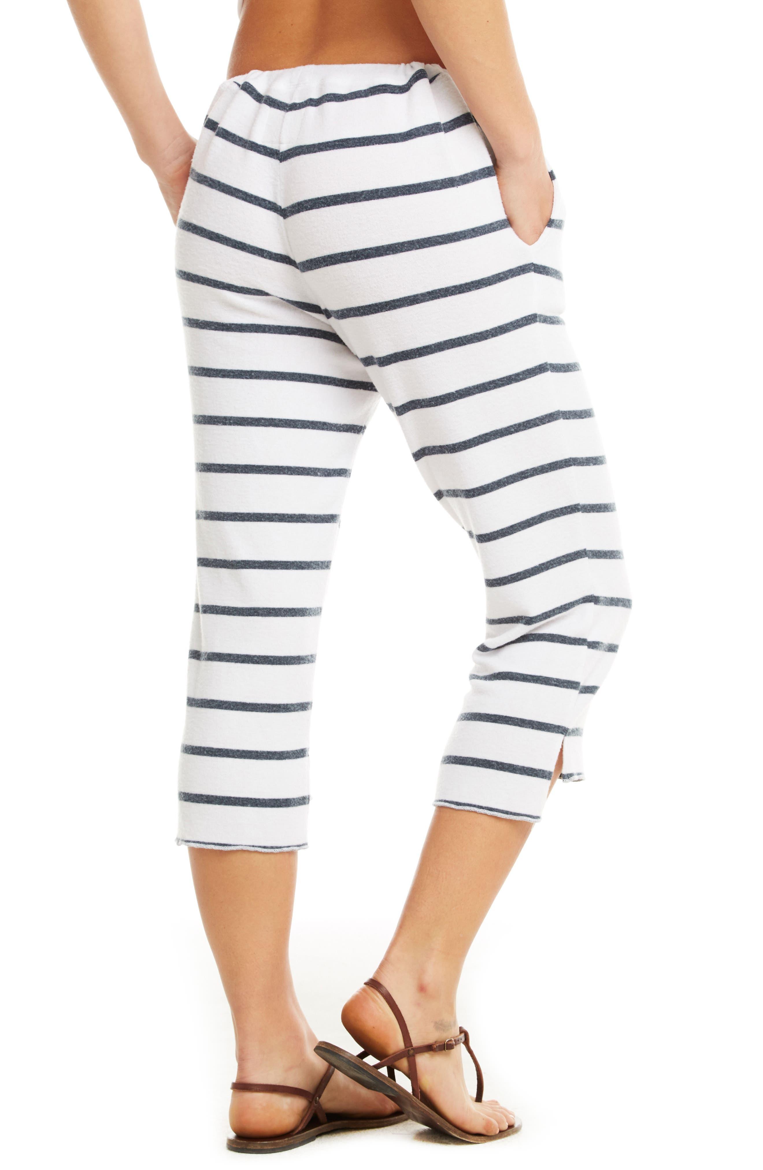 Love Knit Crop Pajama Pants,                             Alternate thumbnail 2, color,                             Stripe
