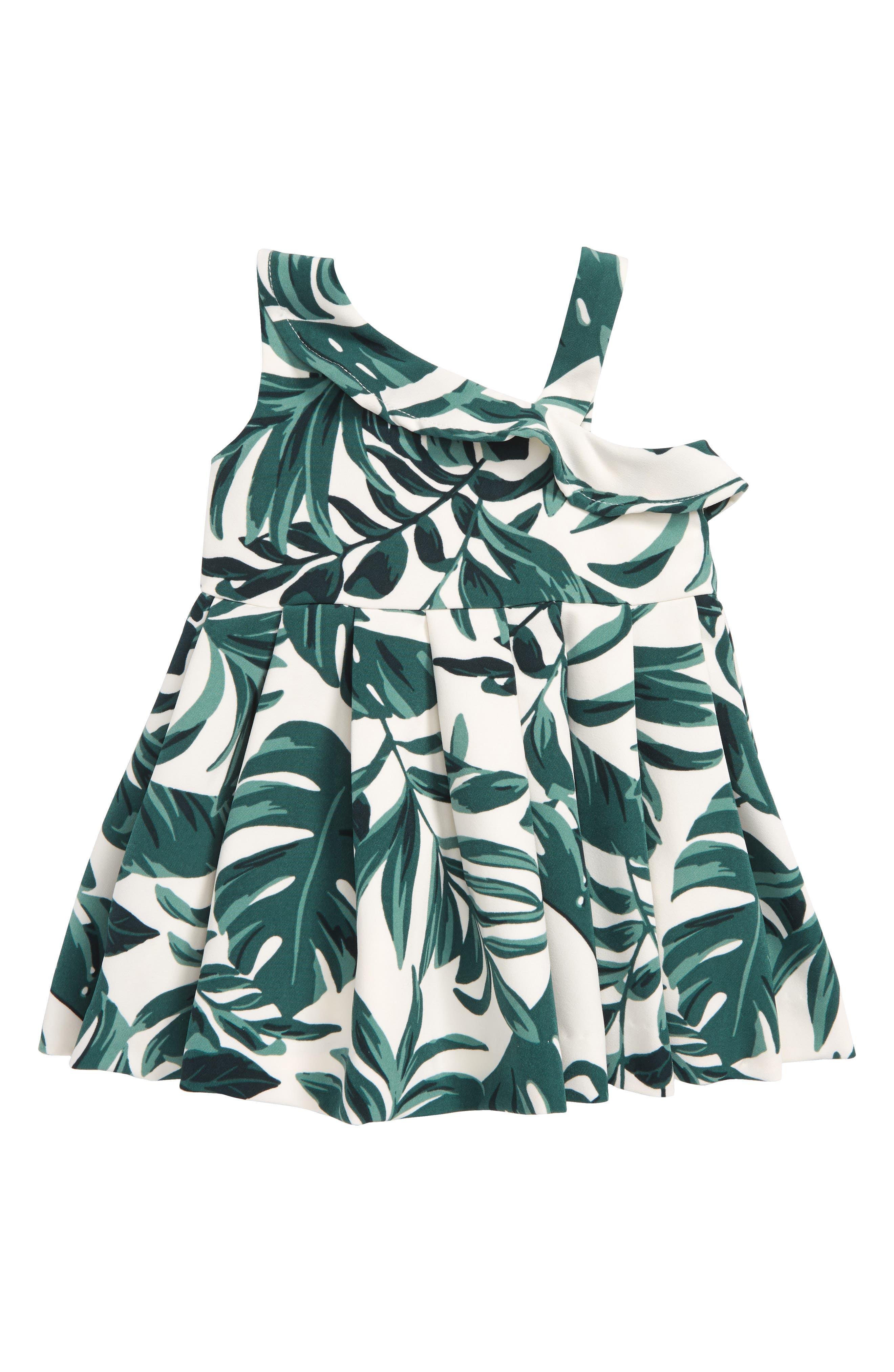 Tropics Rocco Dress,                             Main thumbnail 1, color,                             White Palms