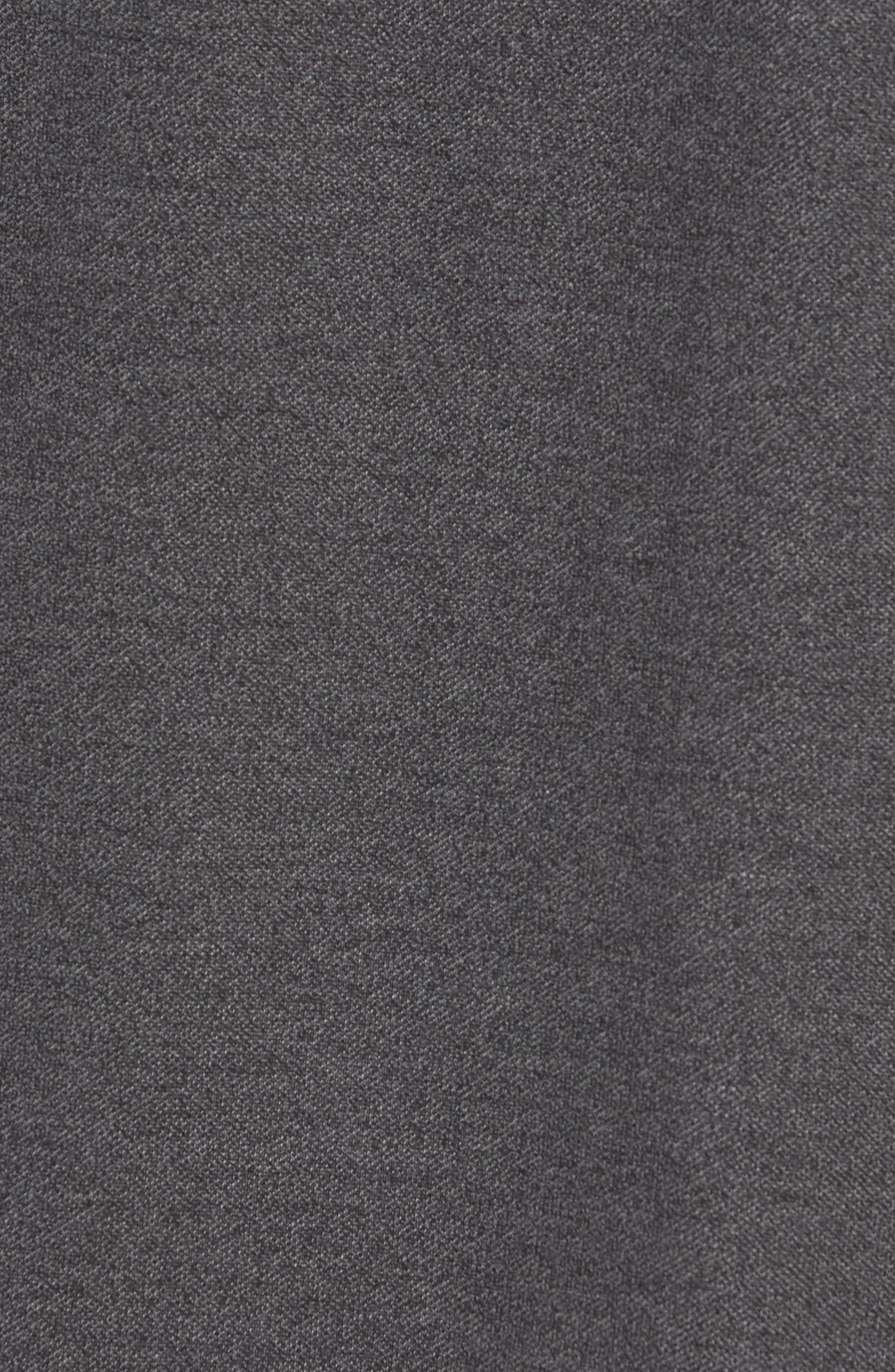 Regular Fit Polo,                             Alternate thumbnail 5, color,                             Black Caviar Melange