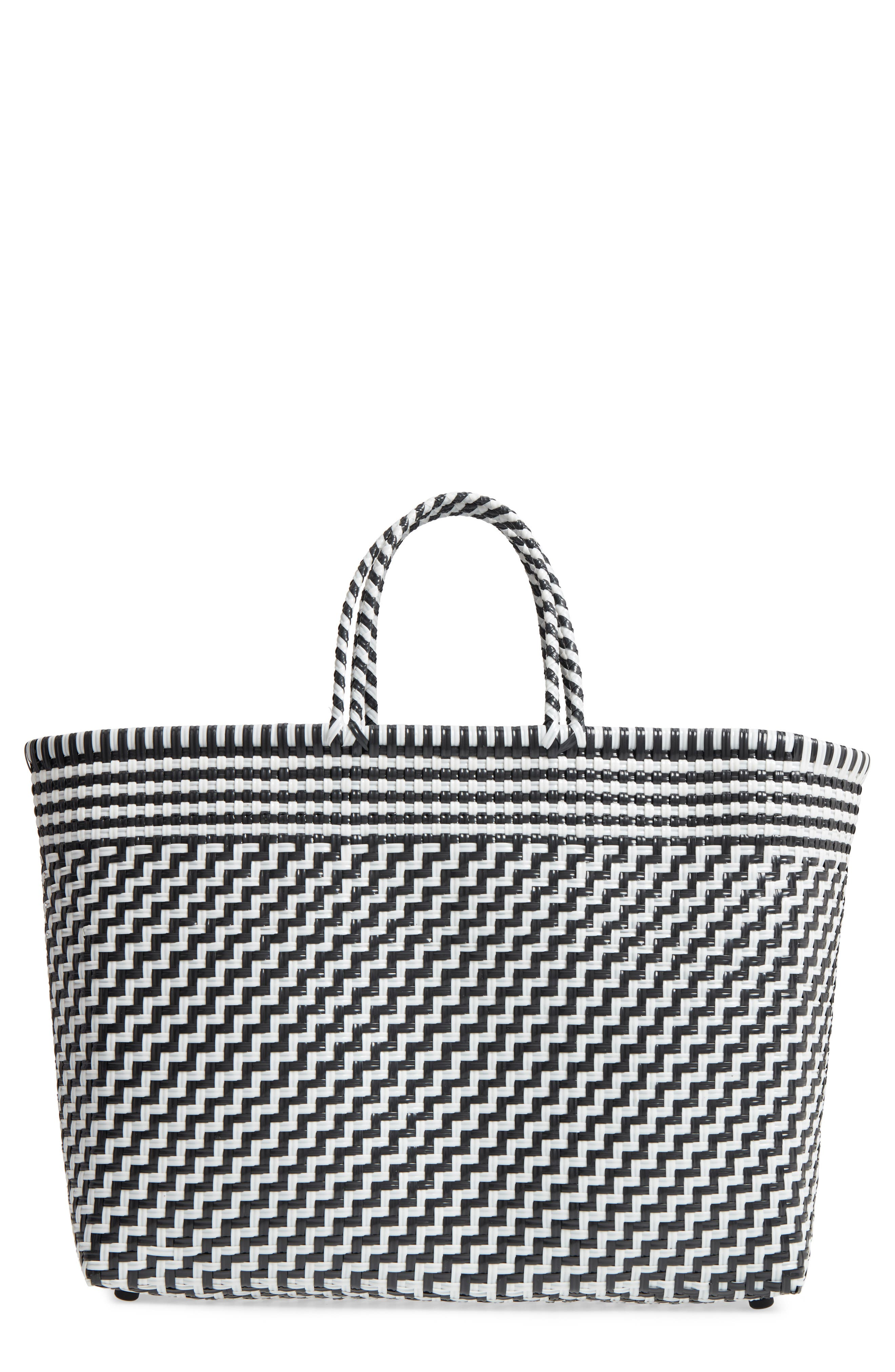 TRUSS LARGE WOVEN TOTE - BLACK