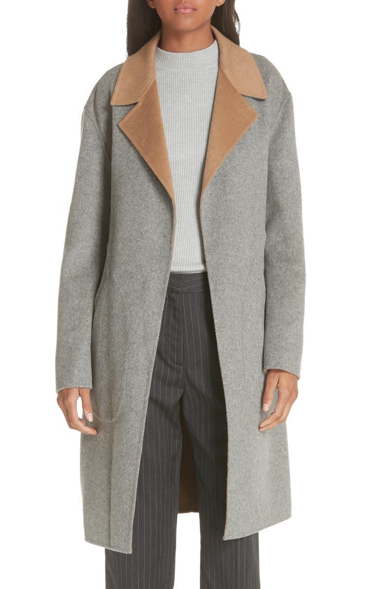 Sven Reversible Wool Blend Coat