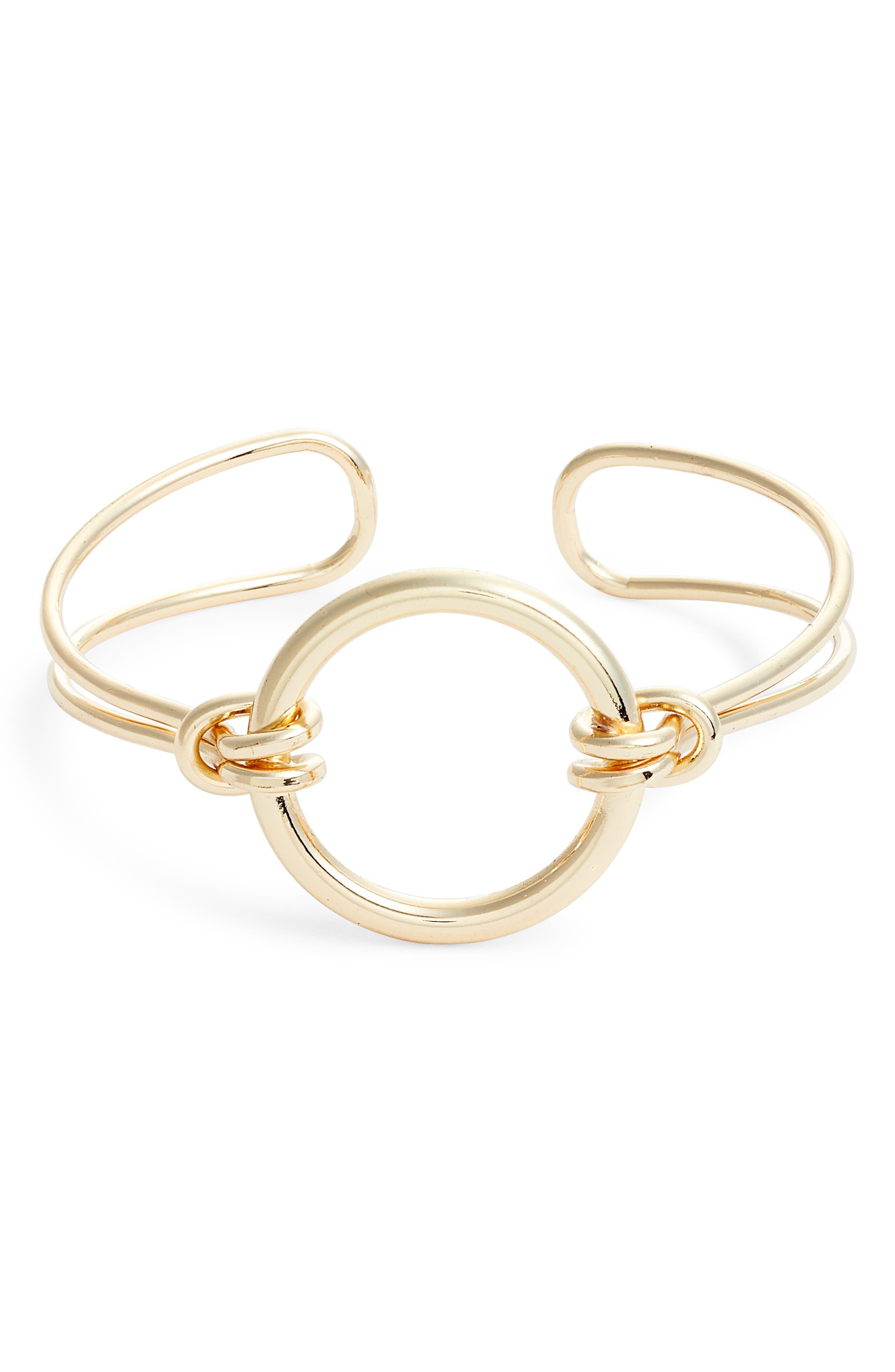 Circa Cuff Bracelet,                             Main thumbnail 1, color,                             Gold