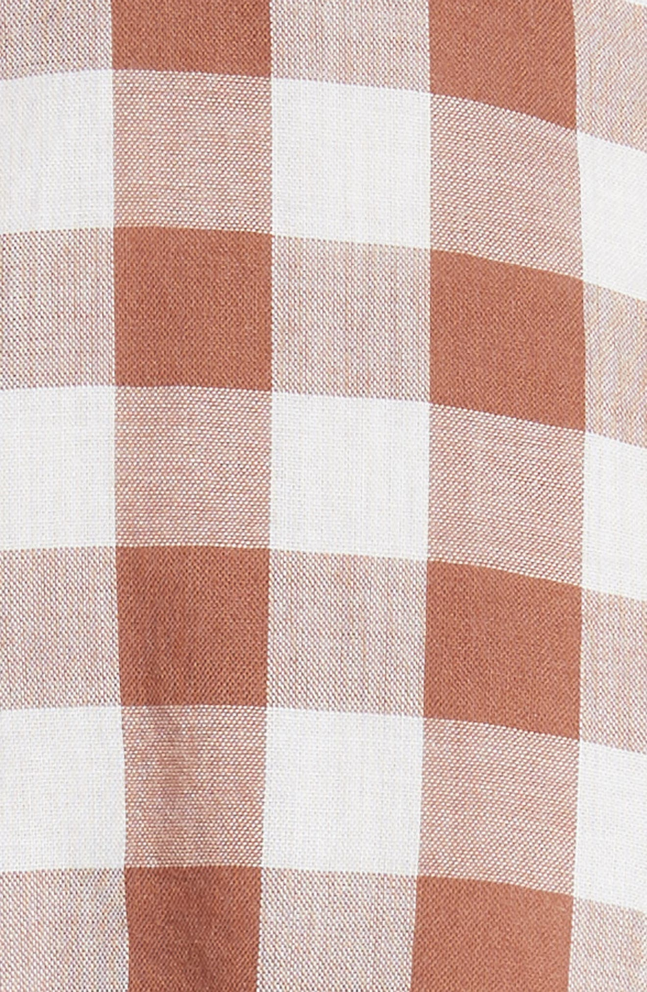The Handsome Button-Up Shirt,                             Alternate thumbnail 5, color,                             Carob Check