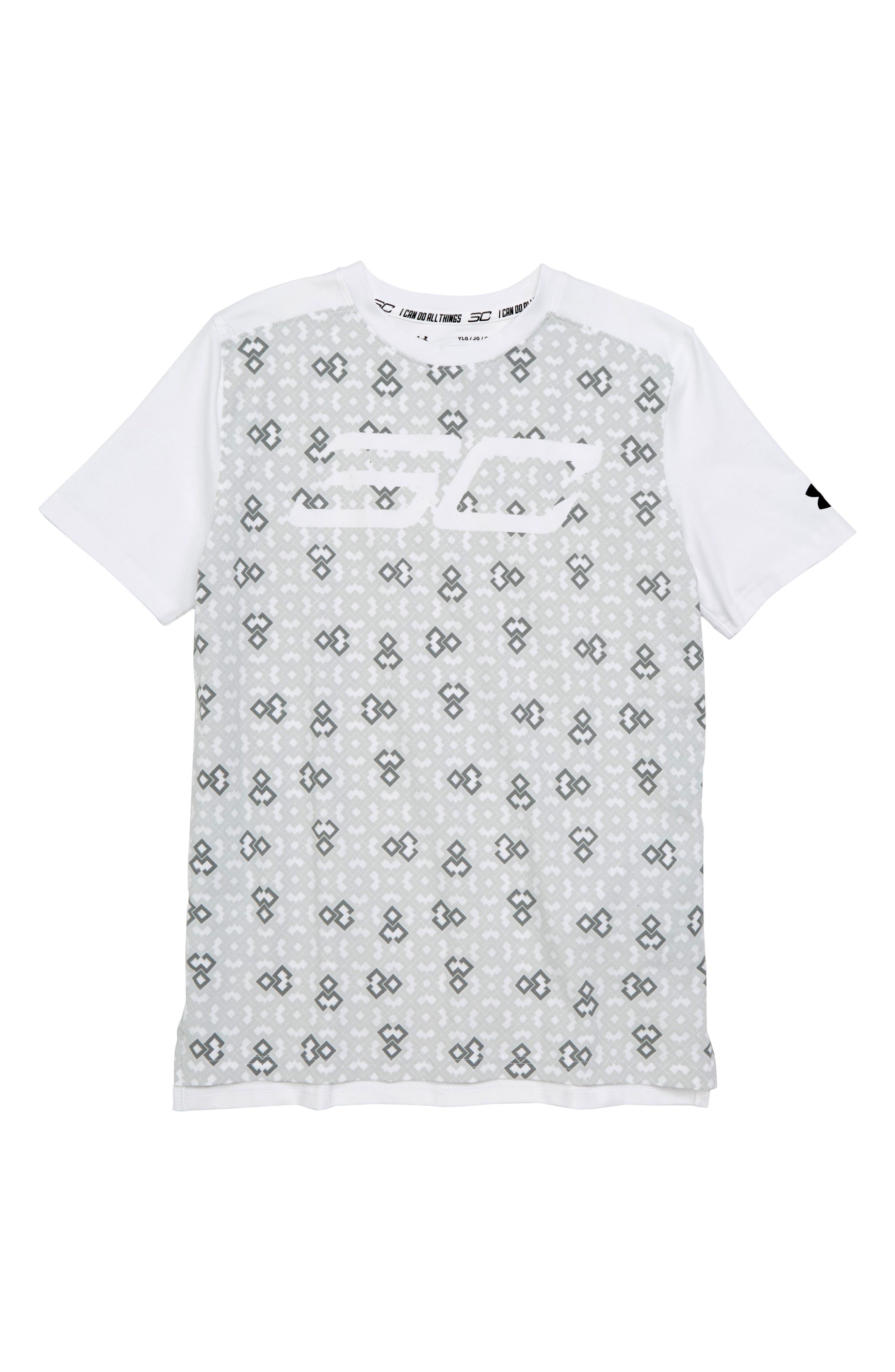 Performance SC30 HeatGear<sup>®</sup> Shirt,                             Main thumbnail 1, color,                             White/ Black