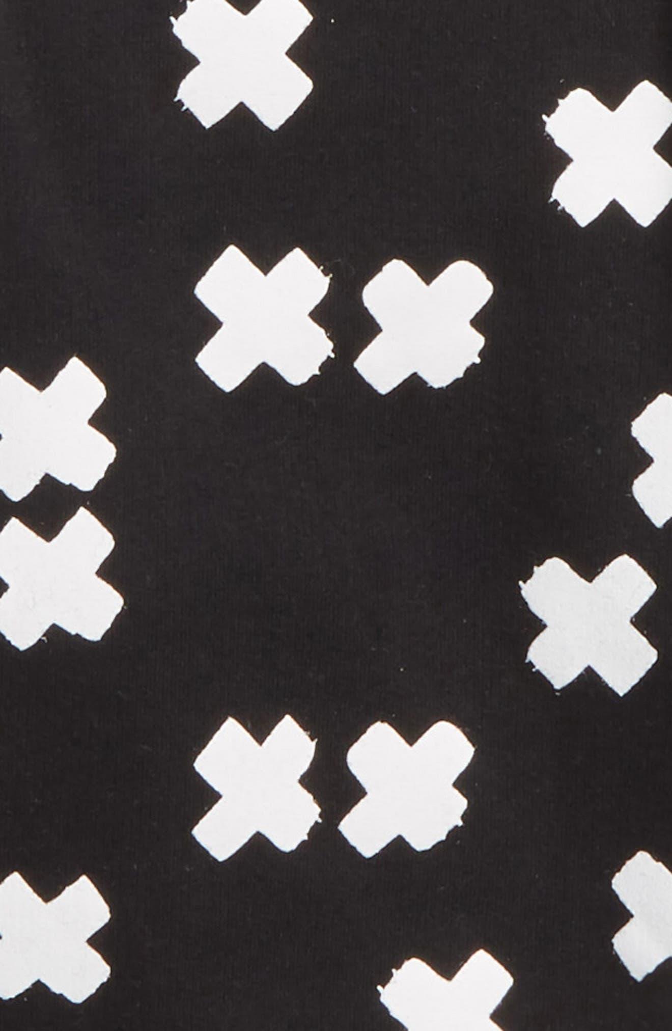 Tee & Short Overalls Set,                             Alternate thumbnail 2, color,                             X White/ Black